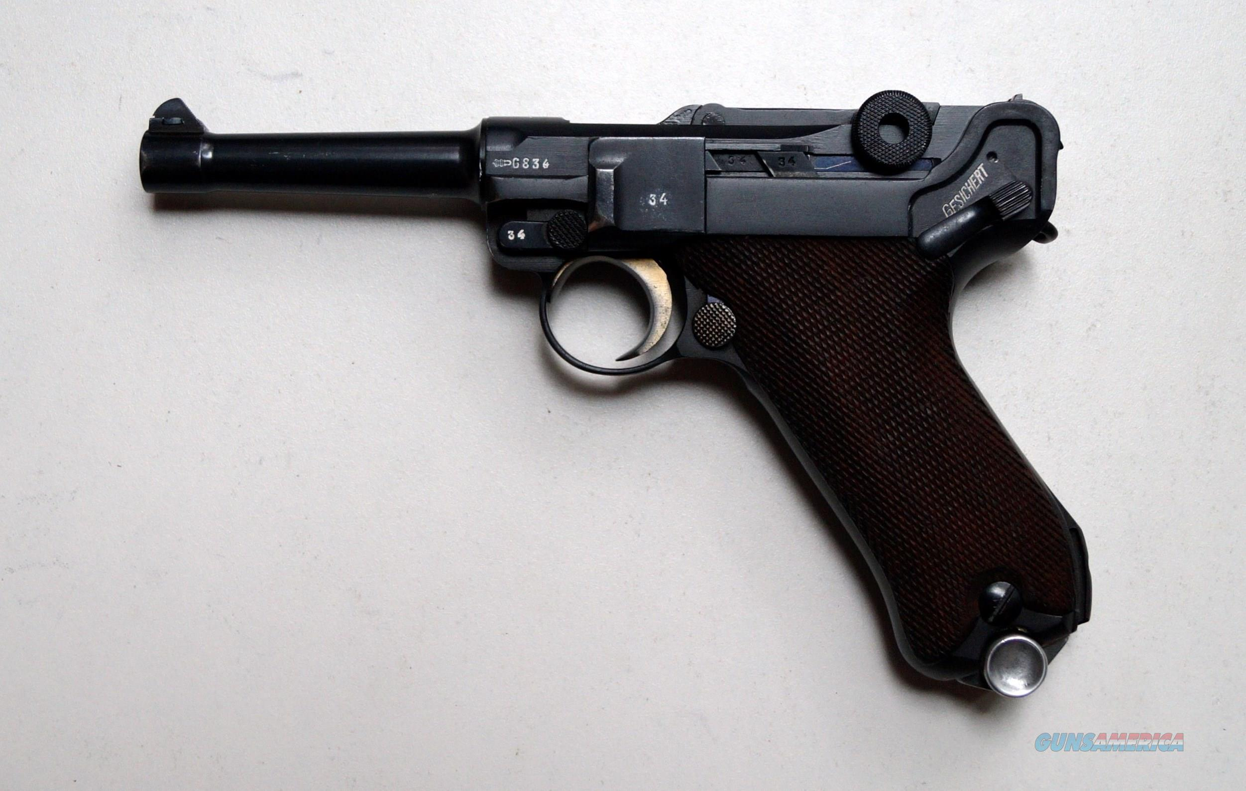 1937 MAUSER BANNER COMMERCIAL GERMAN LUGER WITH 1 MATCHING # MAGAZINE  Guns > Pistols > Luger Pistols