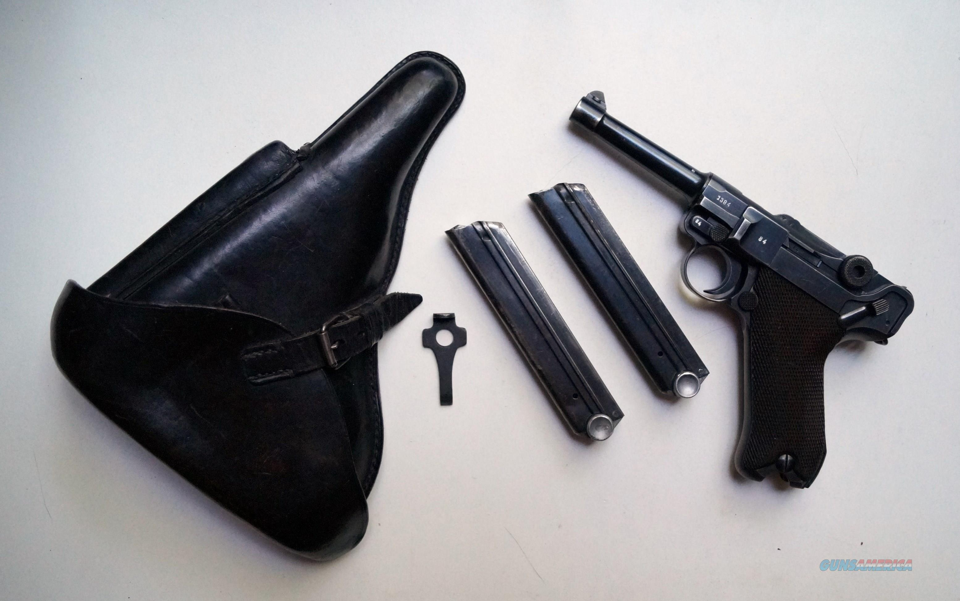 1939 CODE 42 NAZI GERMAN LUGER RIG W/ 2 #MATCHING MAGAZINE  Guns > Pistols > Luger Pistols