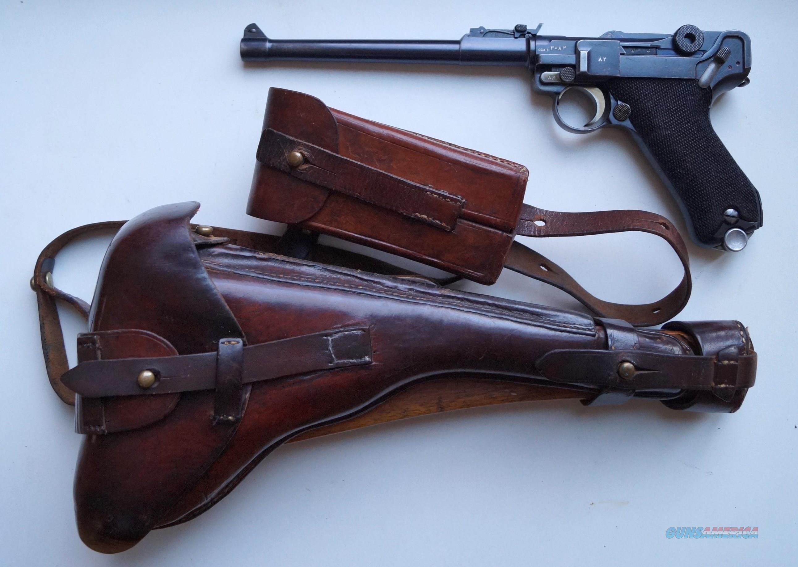 MAUSER PERSIAN (IRANIAN) ARTILLERY GERMAN LUGER RIG (VERY RARE)  Guns > Pistols > Luger Pistols