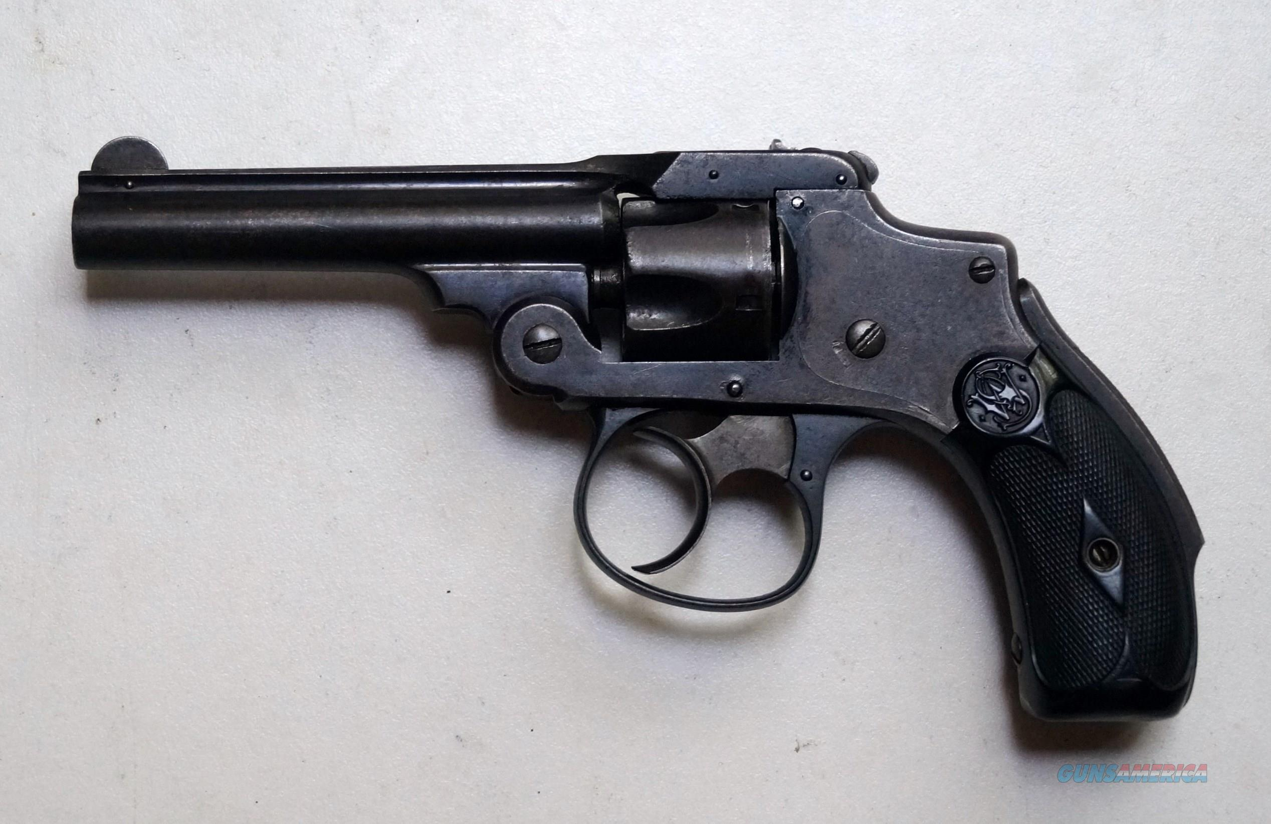 SMITH & WESSON NEW DEPARTURE MODEL - 1ST ISSUE - ANTIQUE-LEMON SQUEEZER  Guns > Pistols > Smith & Wesson Revolvers > Pre-1899