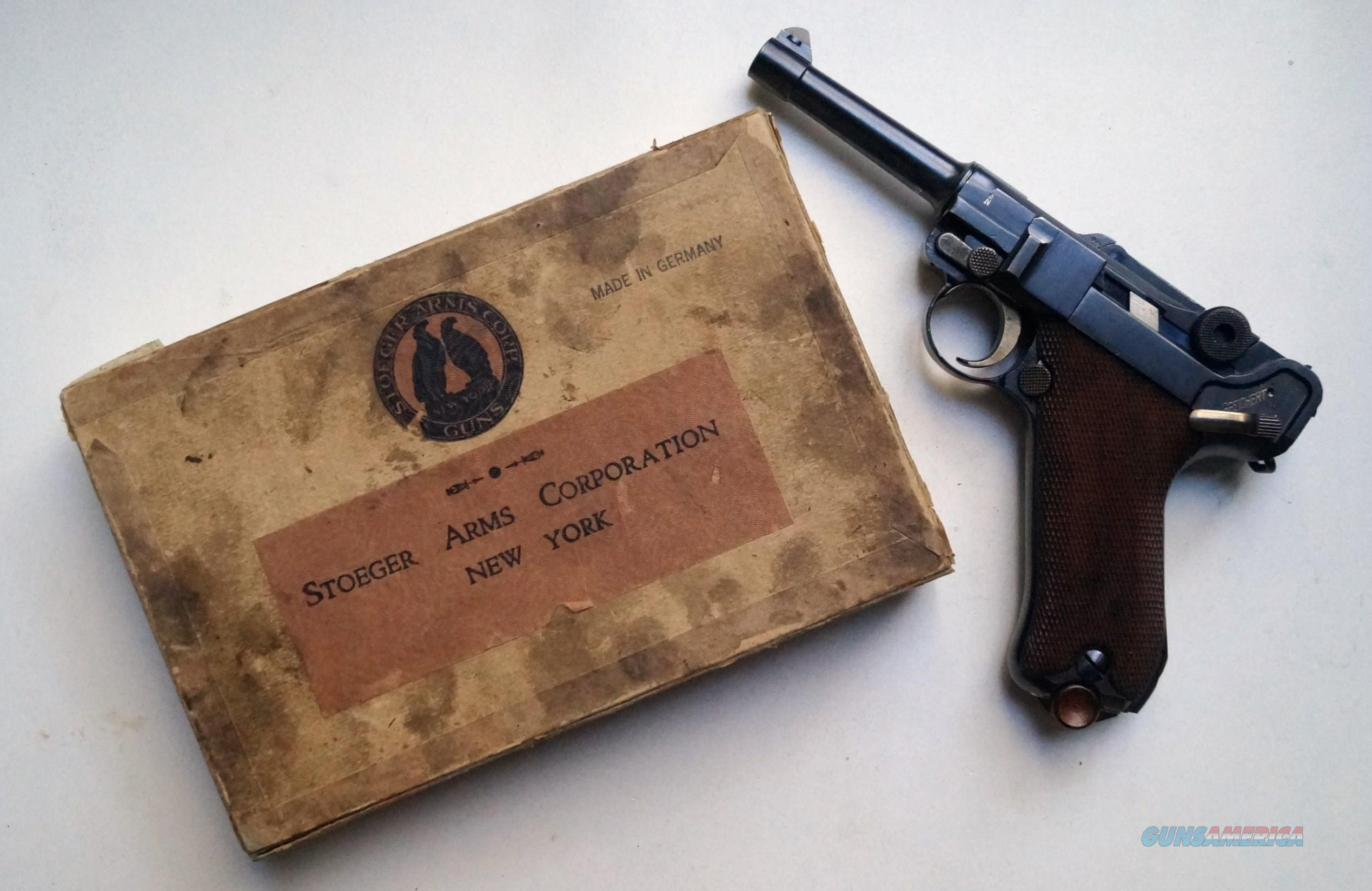 1920 A.F. STOEGER GERMAN LUGER - COLLECTOR CONDITION - WITH ORIGINAL BOX  Guns > Pistols > Luger Pistols