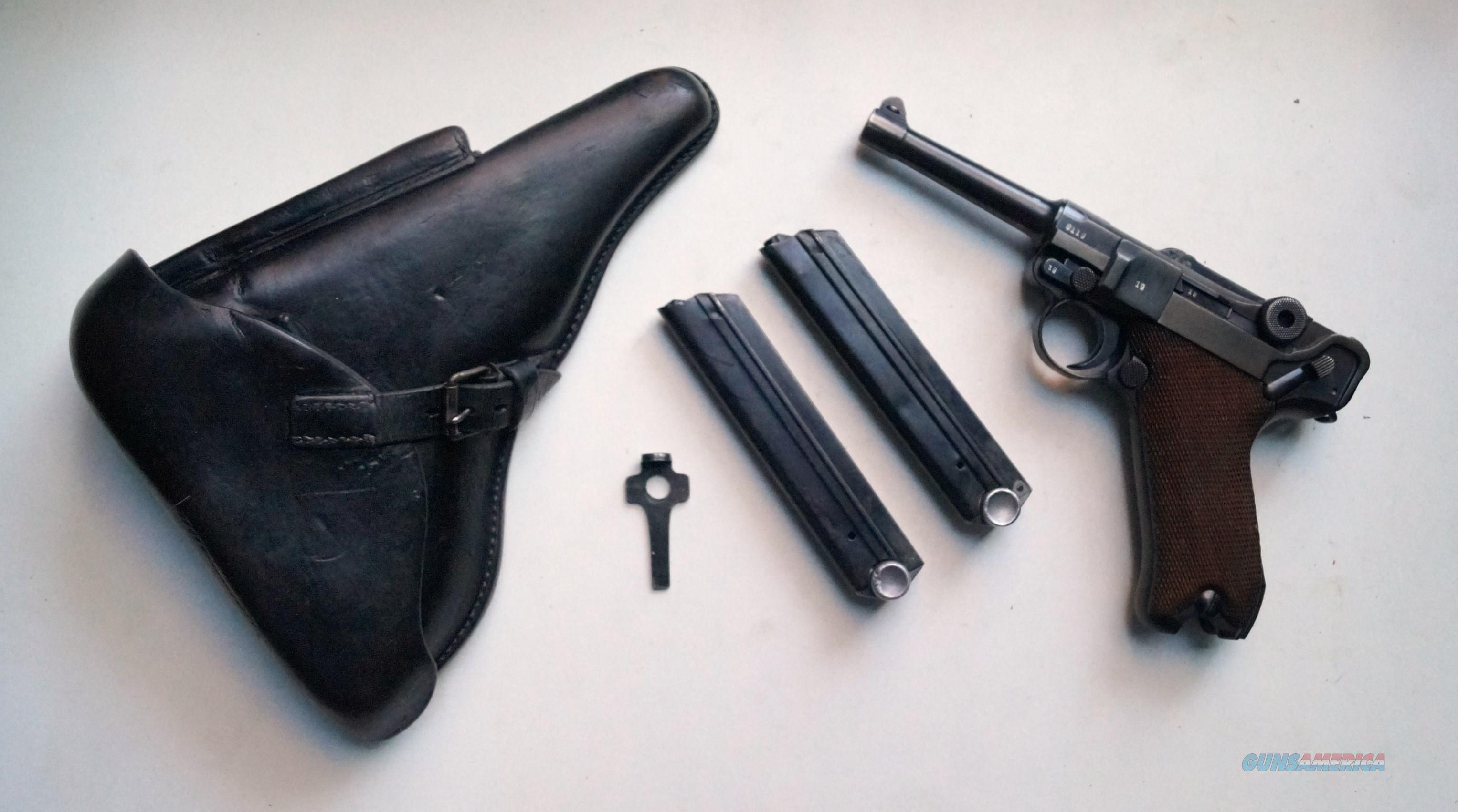 1938 S/42 NAZI GERMAN LUGER RIG WITH 2 MATCHING # MAGAZINES  Guns > Pistols > Luger Pistols