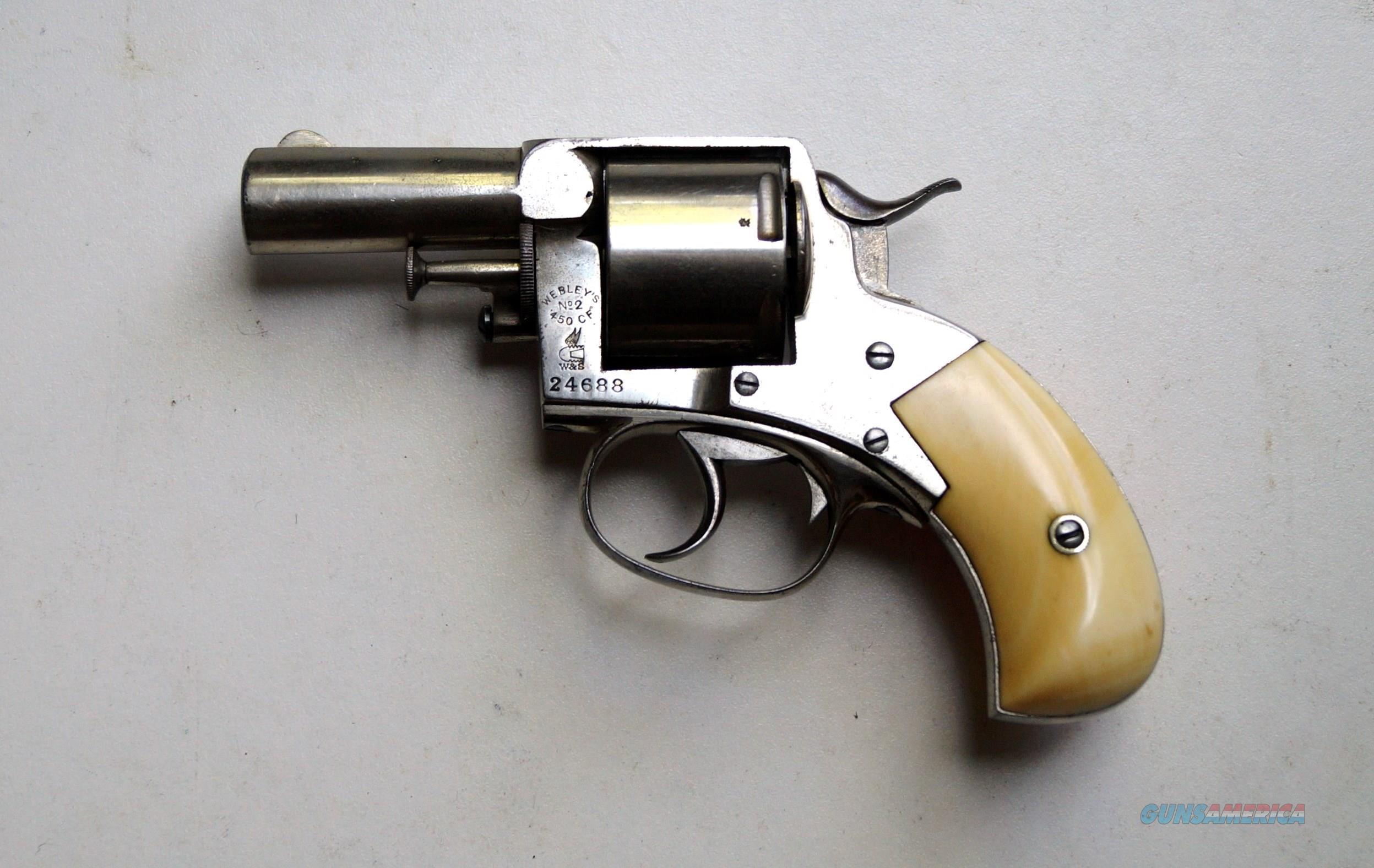 WEBLEY NO 2 BRITISH BULL DOG REVOLER - NICKEL FINISH - ANTIQUE - VERY SCARCE  Guns > Pistols > Webley Pistols