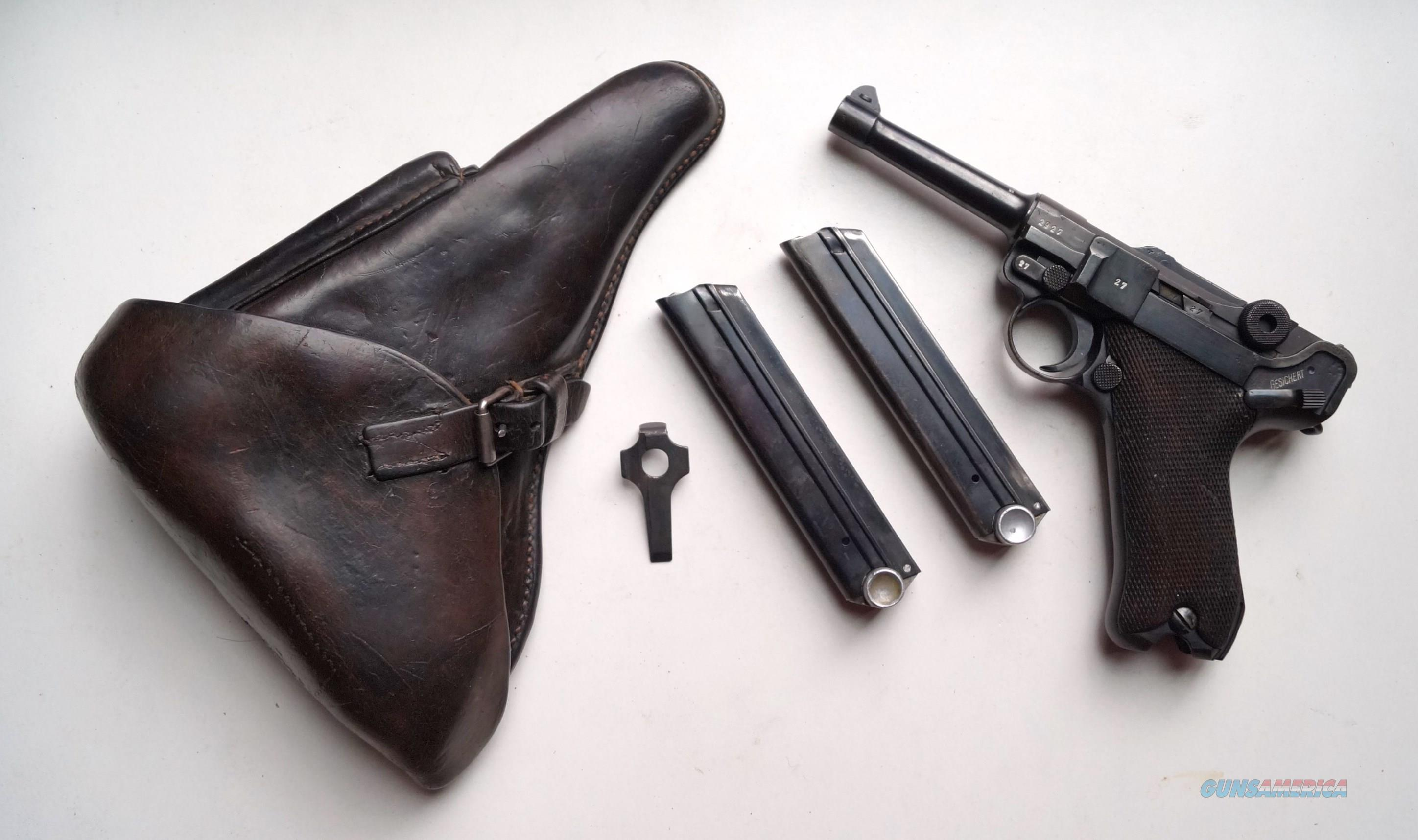 1939 CODE 42 NAZI GERMAN LUGER RIG WITH 2 #MATCHING MAGAZINE  Guns > Pistols > Luger Pistols