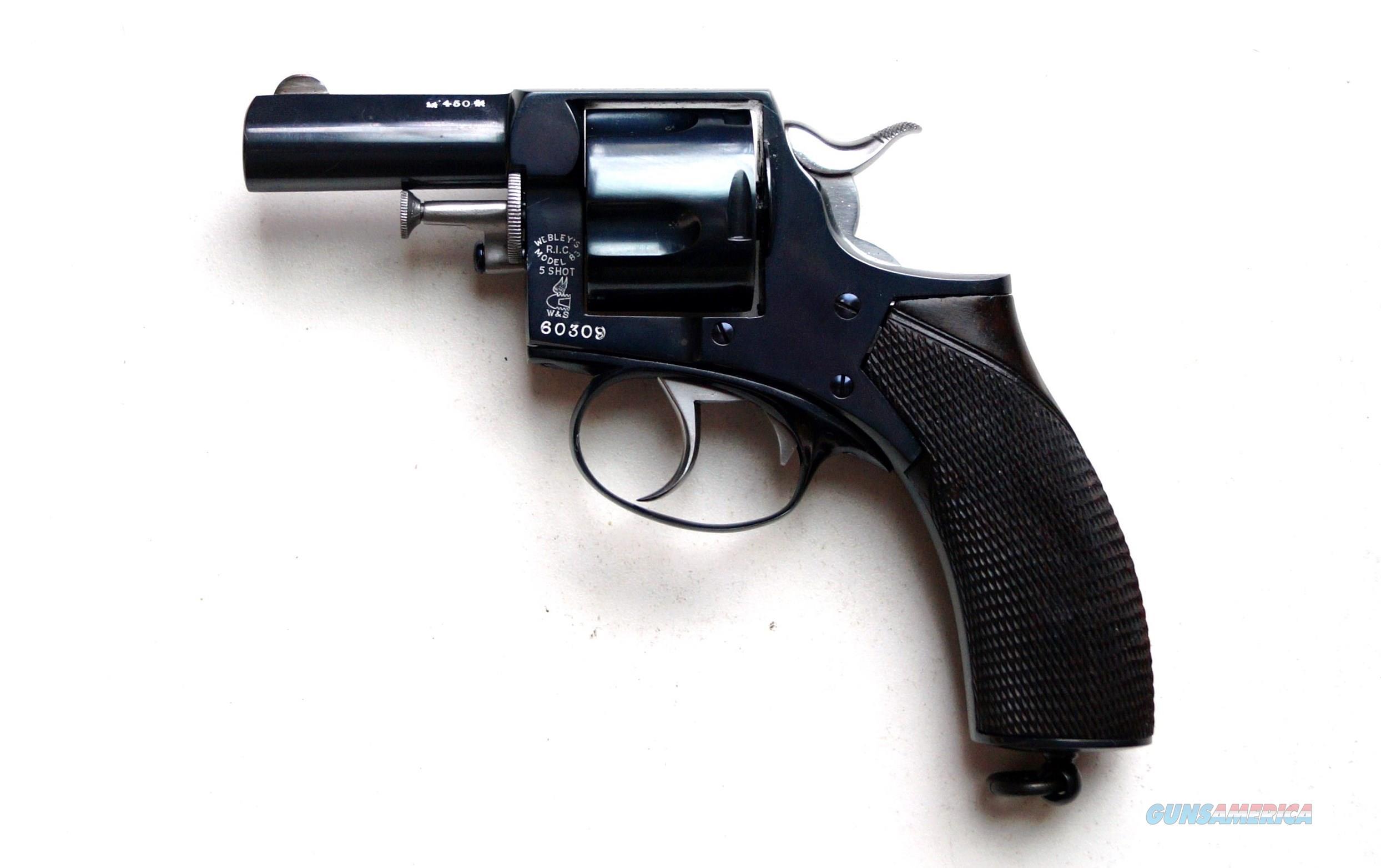 "WEBLEY MODEL 83 R.I.C. 21/4"" BARREL, .450 CAL. - VERY SCARCE - MINT  Guns > Pistols > Webley Pistols"