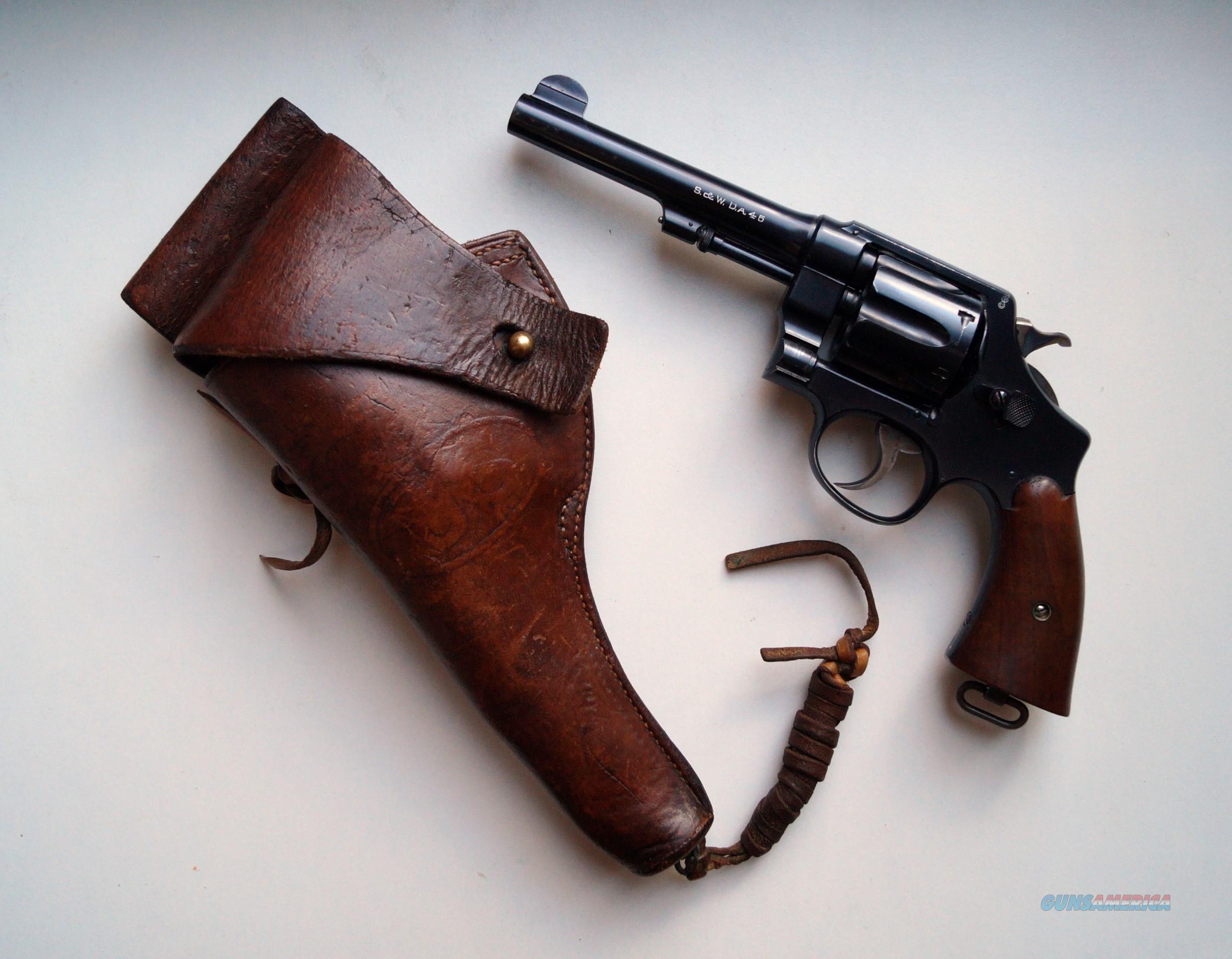 SMITH & WESSON MODEL 1917 U.S. ARMY REVOLVER / .45 CAL WITH ORIGINAL HOLSTER  Guns > Pistols > Smith & Wesson Revolvers > Pre-1945