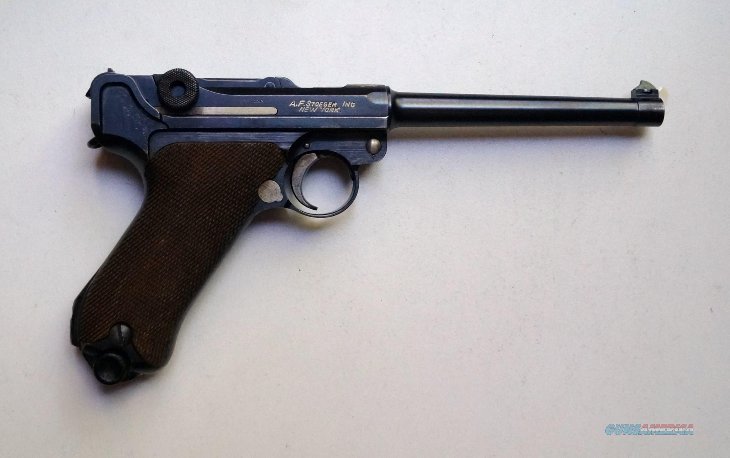 "DWM A.F. STOEGER AMERICAN EAGLE GERMAN LUGER WITH A 6"" BARREL  Guns > Pistols > Luger Pistols"