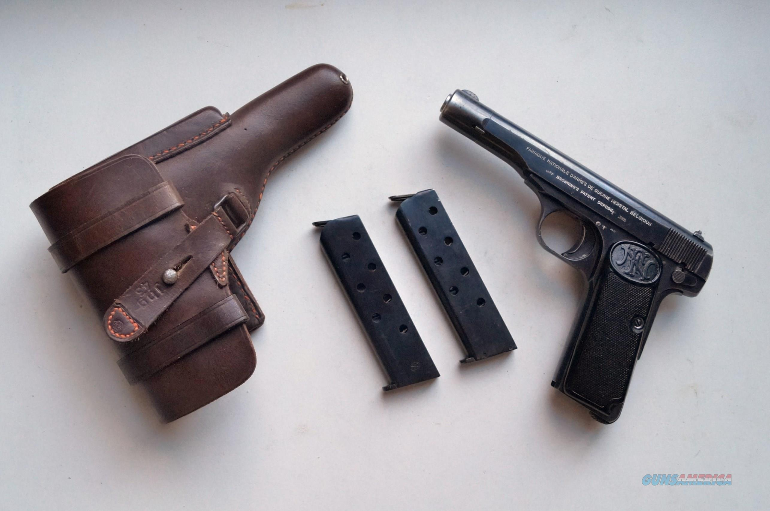 1922 F N BROWNING NAZI MARKED RIG  Guns > Pistols > Browning Pistols > Other Autos