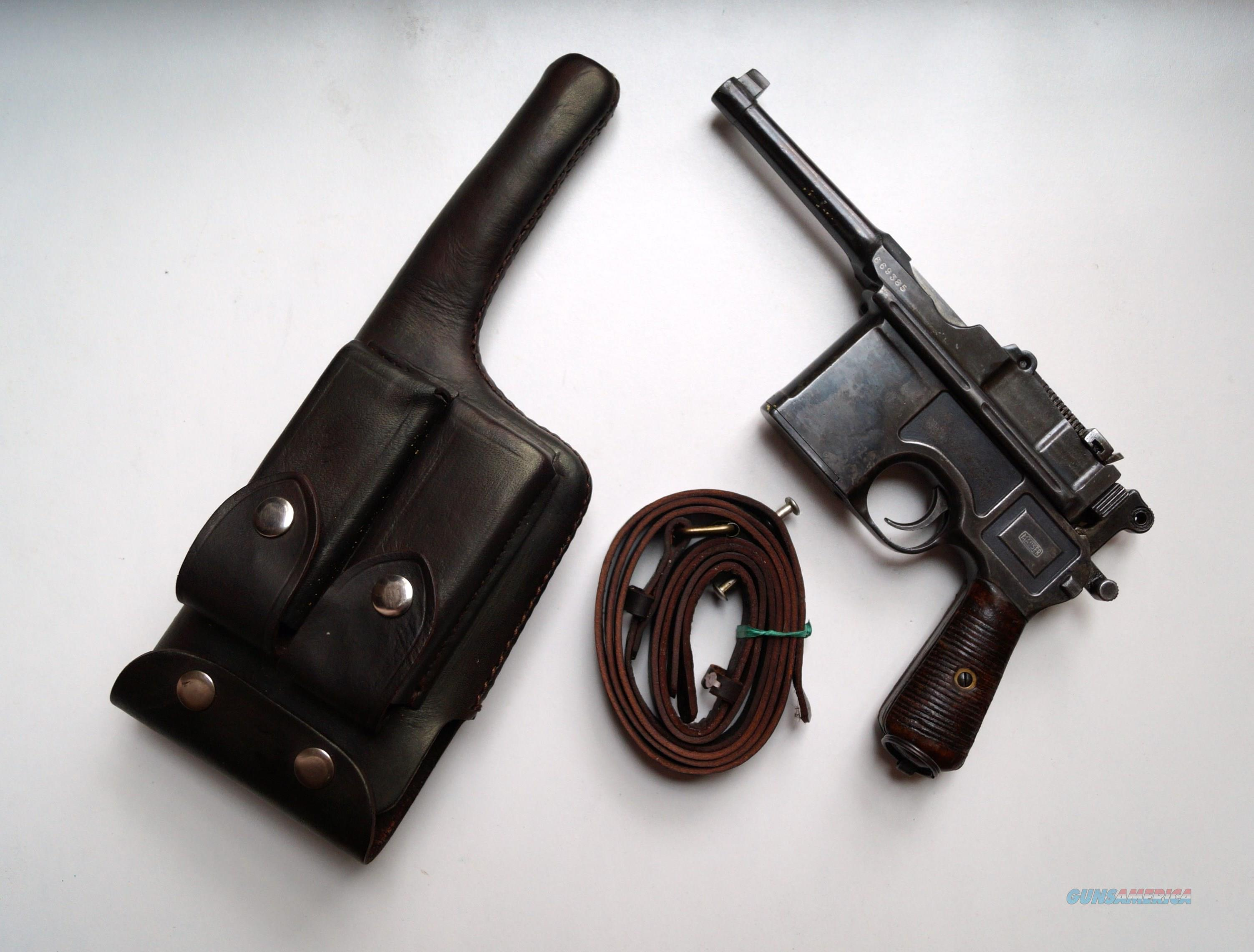 MAUSER BOLO BROOMHANDLE WITH ORIGINAL HOLSTER  Guns > Pistols > Mauser Pistols