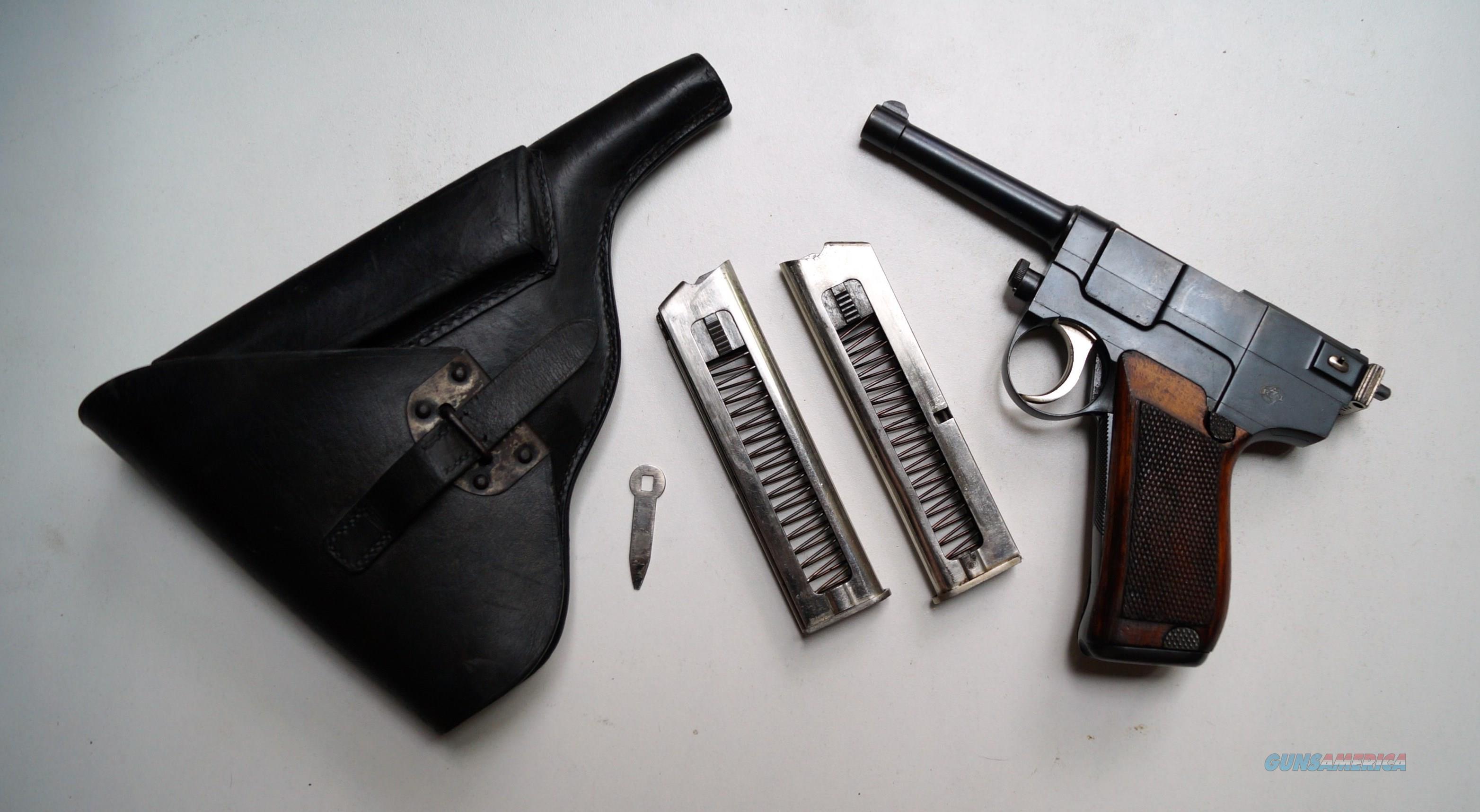 GLISENTI MODEL 1910 RIG - VERY RARE - NAVY PROOFED  Guns > Pistols > Beretta Pistols > Rare & Collectible