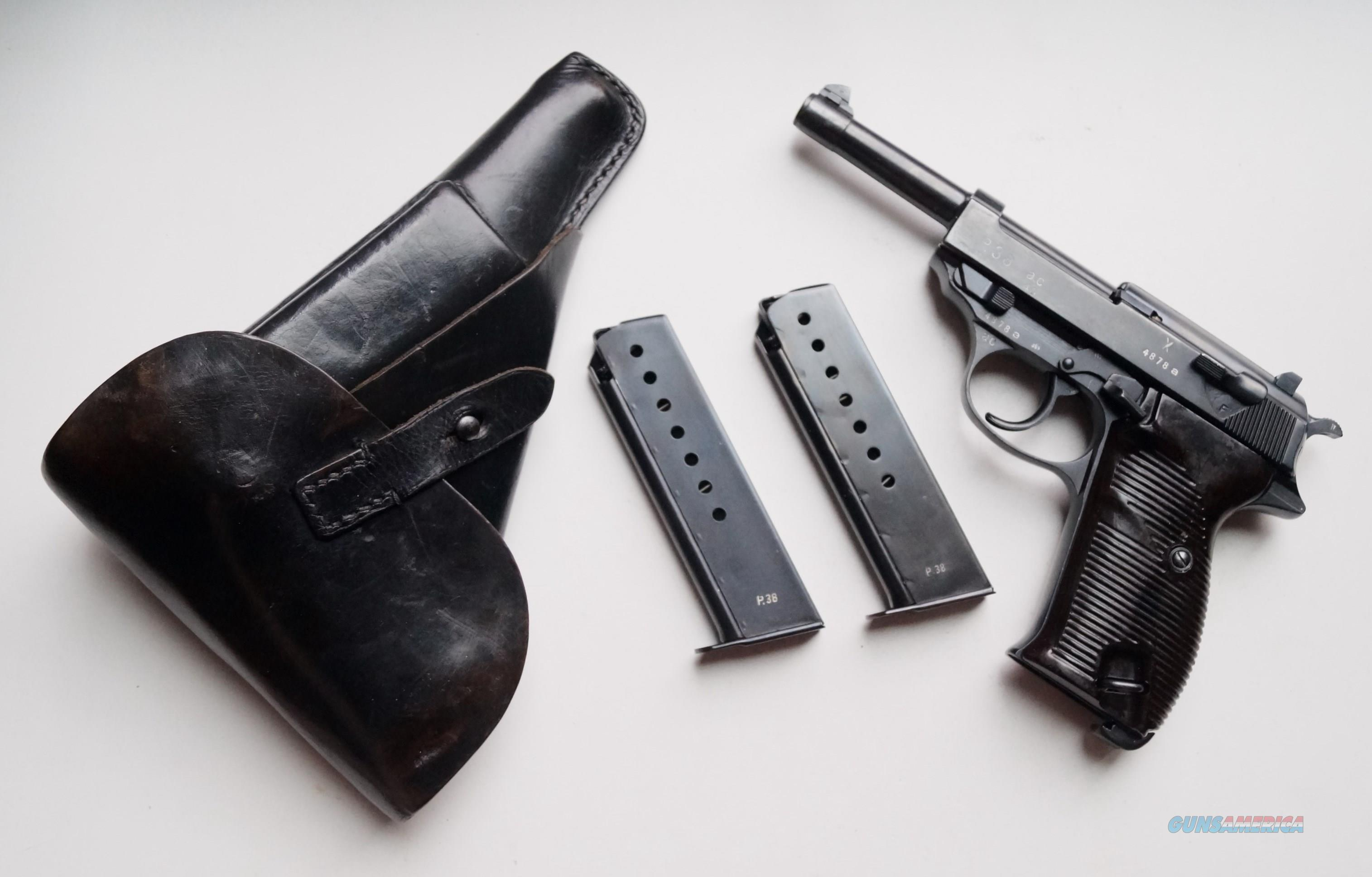 WALTHER NAZI P38 AC 40 (SURCHARGE MODEL) RIG WITH 2 MATCHING # MAGAZINE  Guns > Pistols > Walther Pistols > Pre-1945 > P-38
