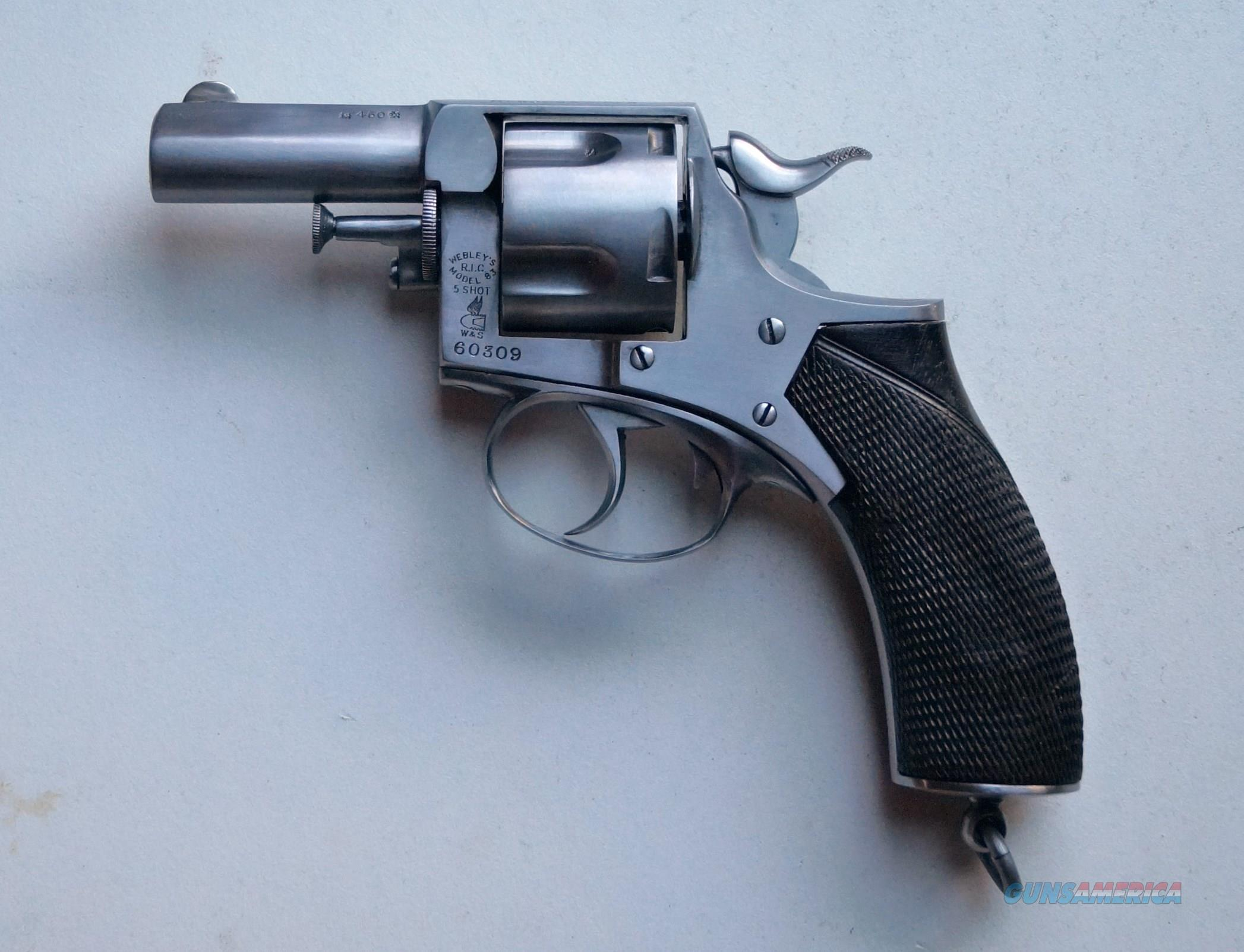"WEBLEY MODEL 83 R.I.C. 21/4"" BARREL, .450 CAL. - VERY SCARCE  Guns > Pistols > Webley Pistols"