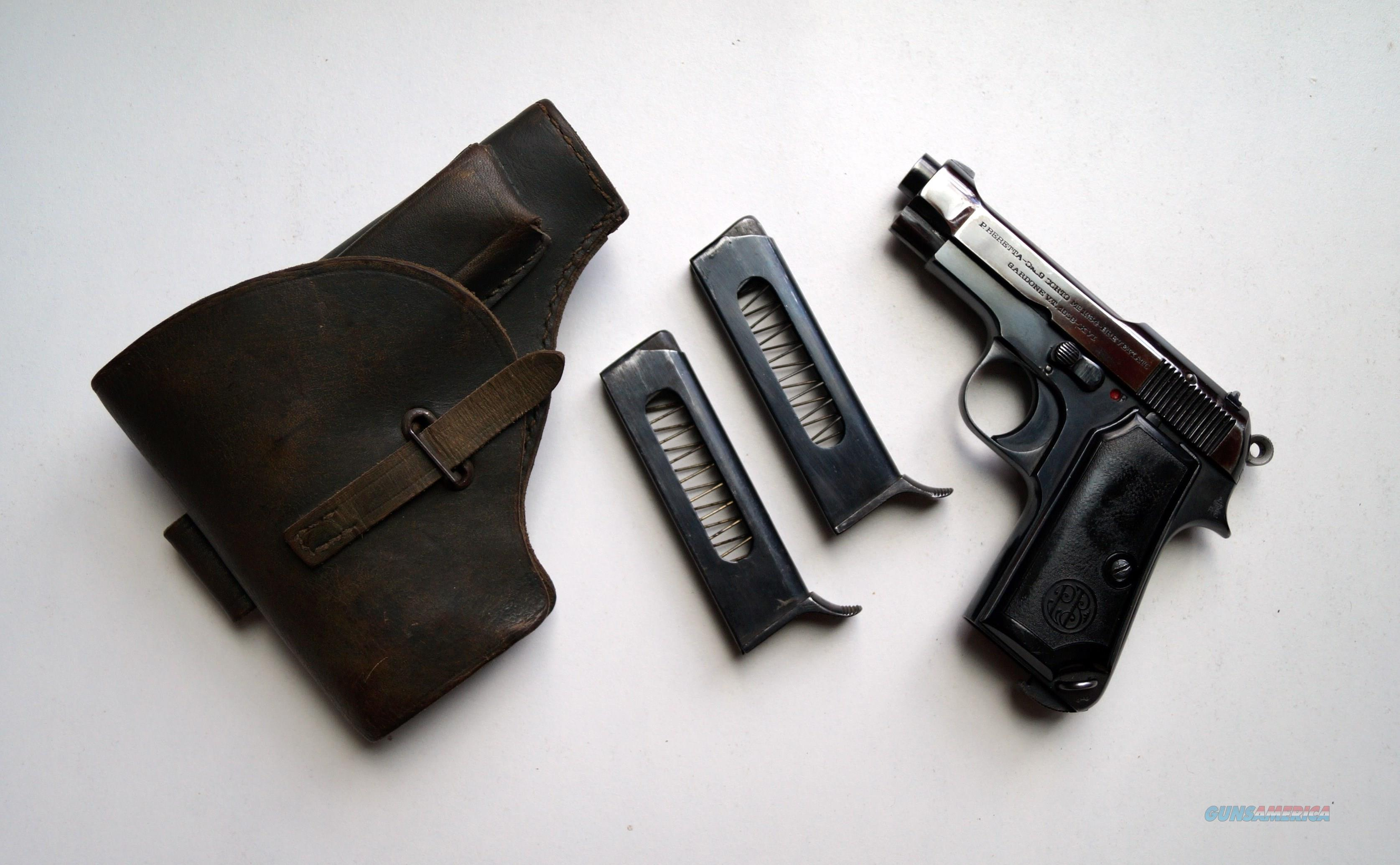 BERETTA MODEL 1934 ITALIAN MILITARY RIG  Guns > Pistols > Beretta Pistols > Rare & Collectible