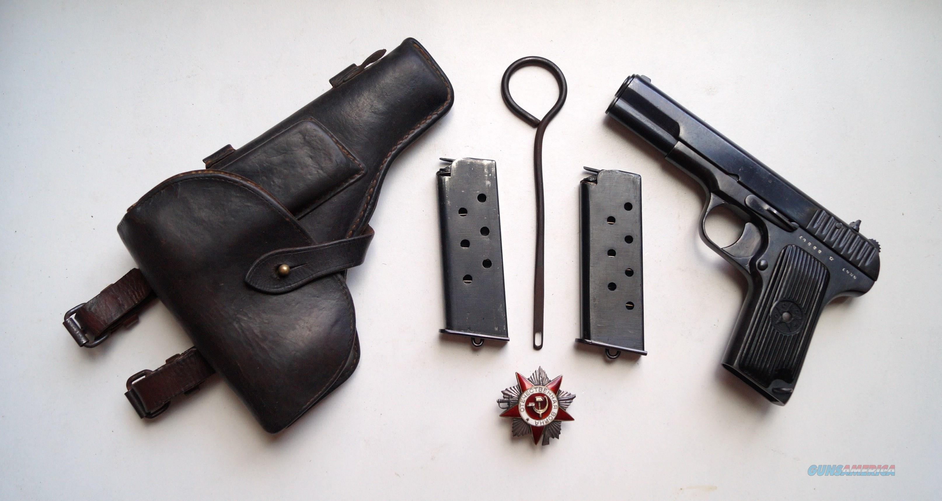 1939 RUSSIAN TOKAREV MODEL TT33 RIG WITH 2 MATCHING NUMBERED MAGAZINES  Guns > Pistols > Military Misc. Pistols Non-US