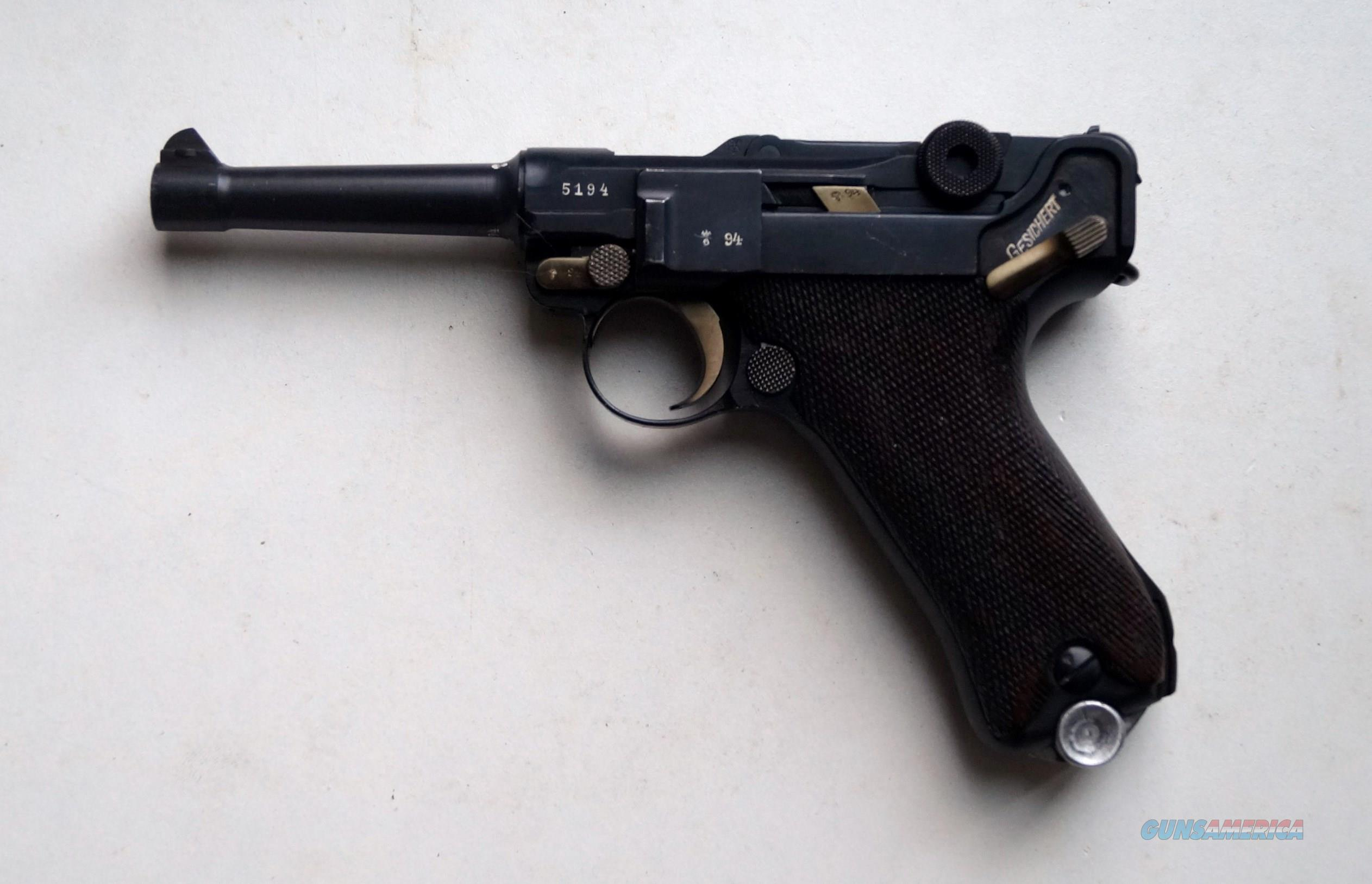 SIMSON / SUHL GERMAN LUGER WITH MATCHING # MAGAZINE  Guns > Pistols > Luger Pistols