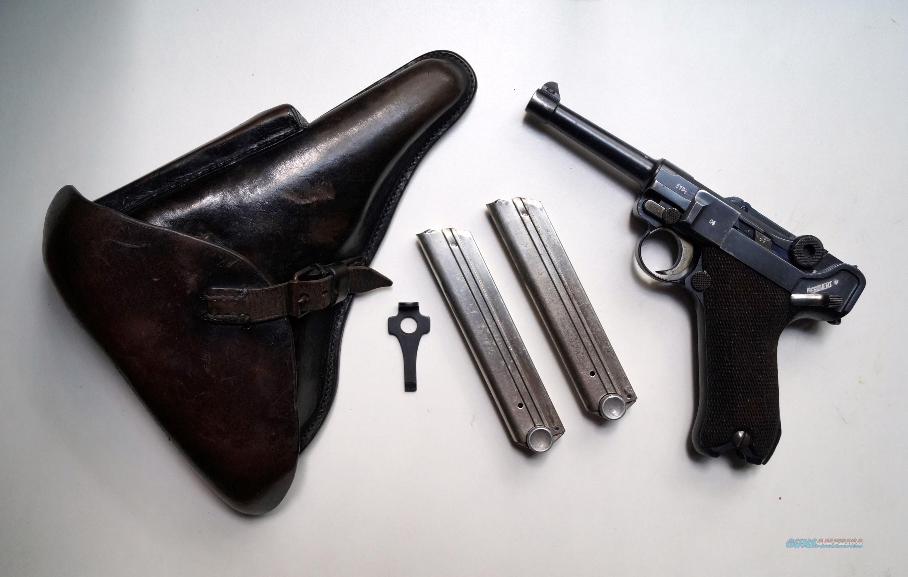 G DATE (1935 ) NAZI GERMAN LUGER RIG WITH 2 MATCHING # MAGAZINES  Guns > Pistols > Luger Pistols