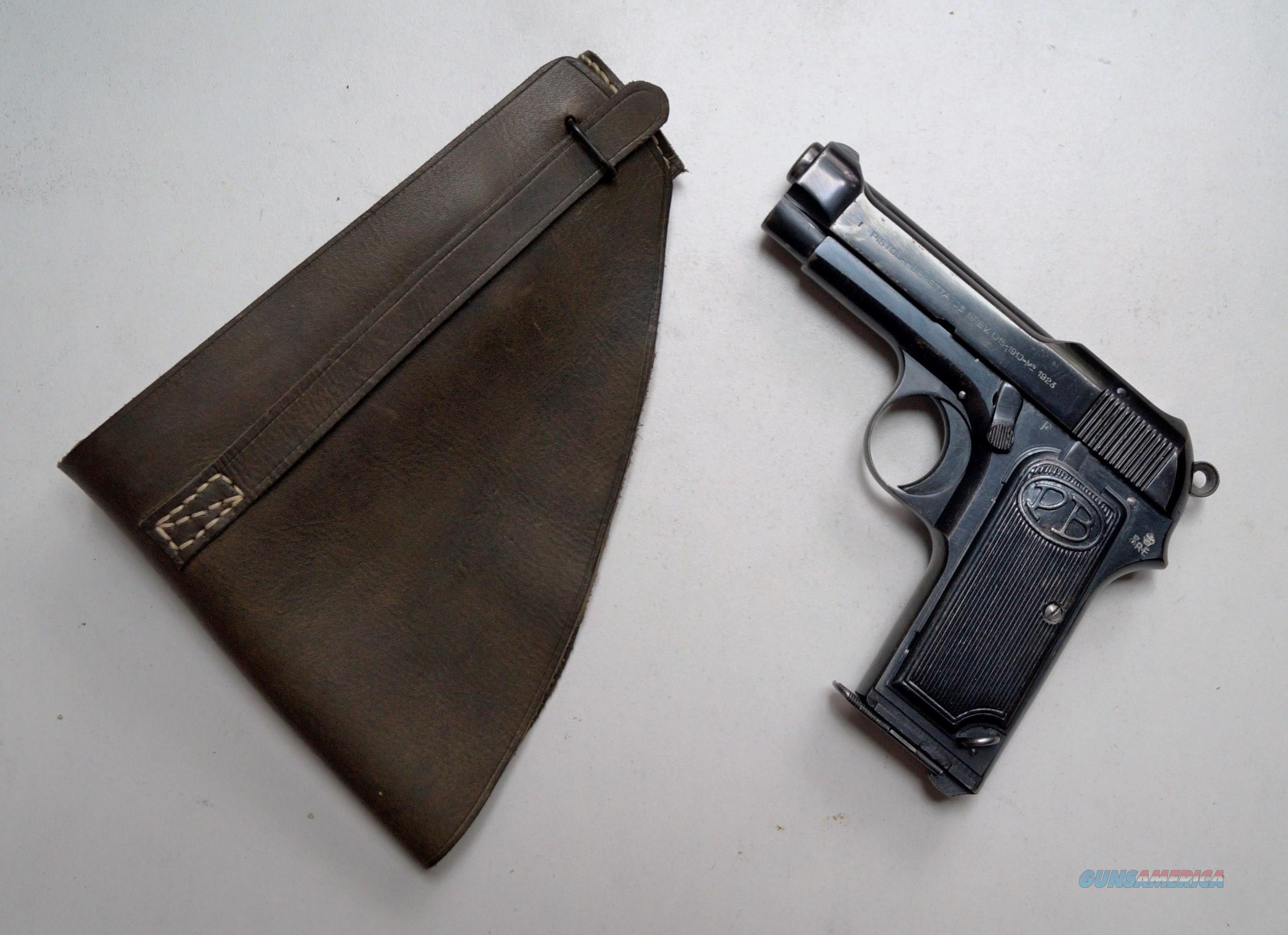 BERETTA MODEL 1923 -SLOTTED FOR SHOULDER STOCK  Guns > Pistols > Beretta Pistols > Rare & Collectible
