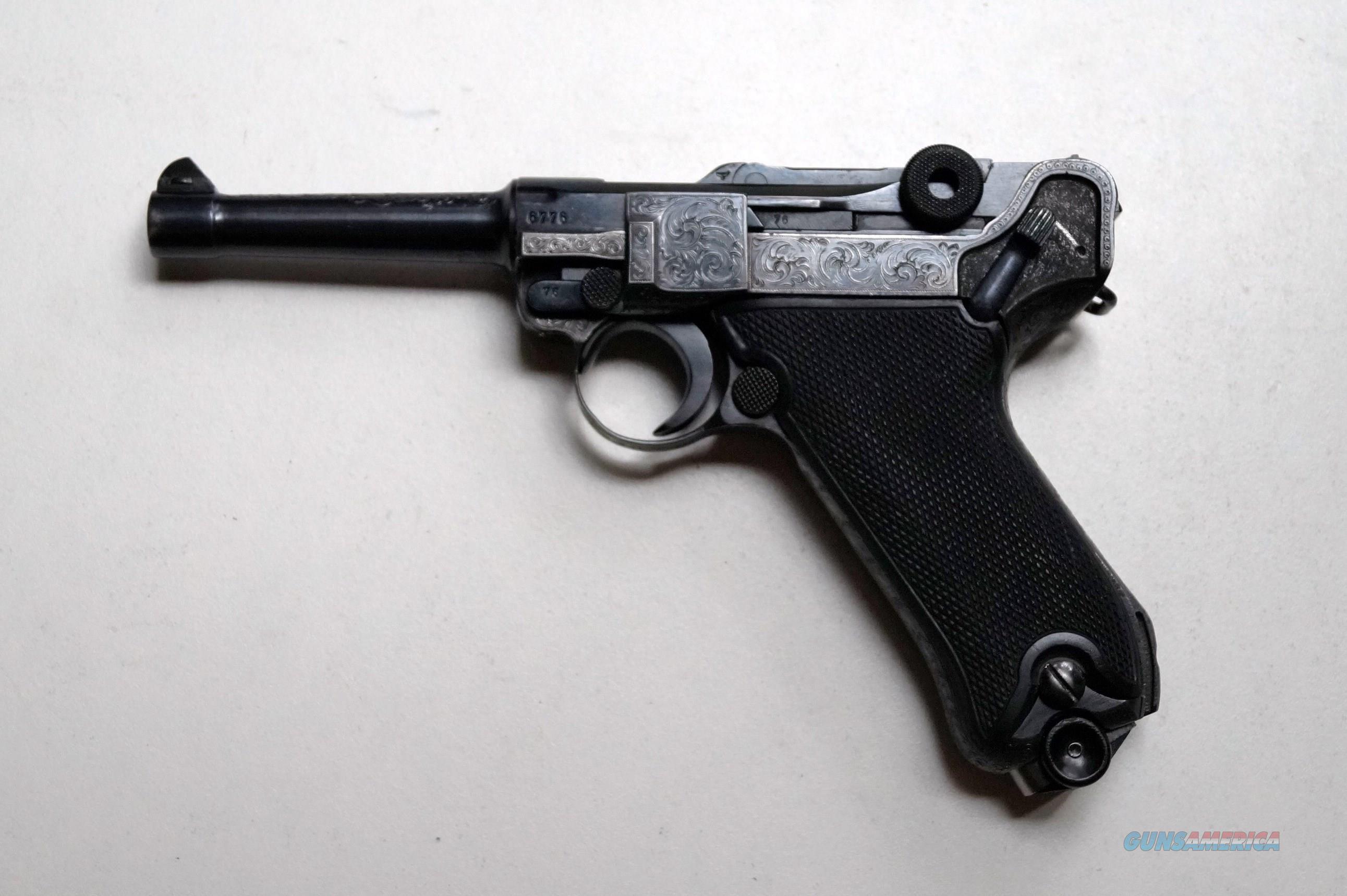 41 BYF BLACK WIDOW NAZI GERMAN LUGER - ENGRAVED   Guns > Pistols > Luger Pistols