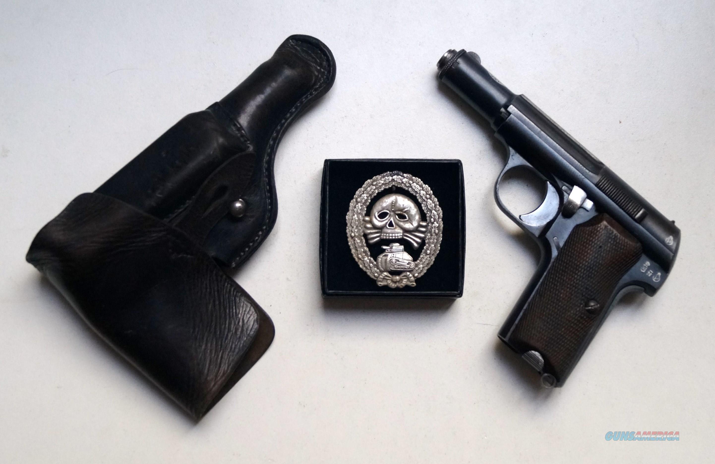 ASTRA 300 NAZI MARKED RIG WITH SPANISH CONDOR  BADGE  Guns > Pistols > Astra Pistols