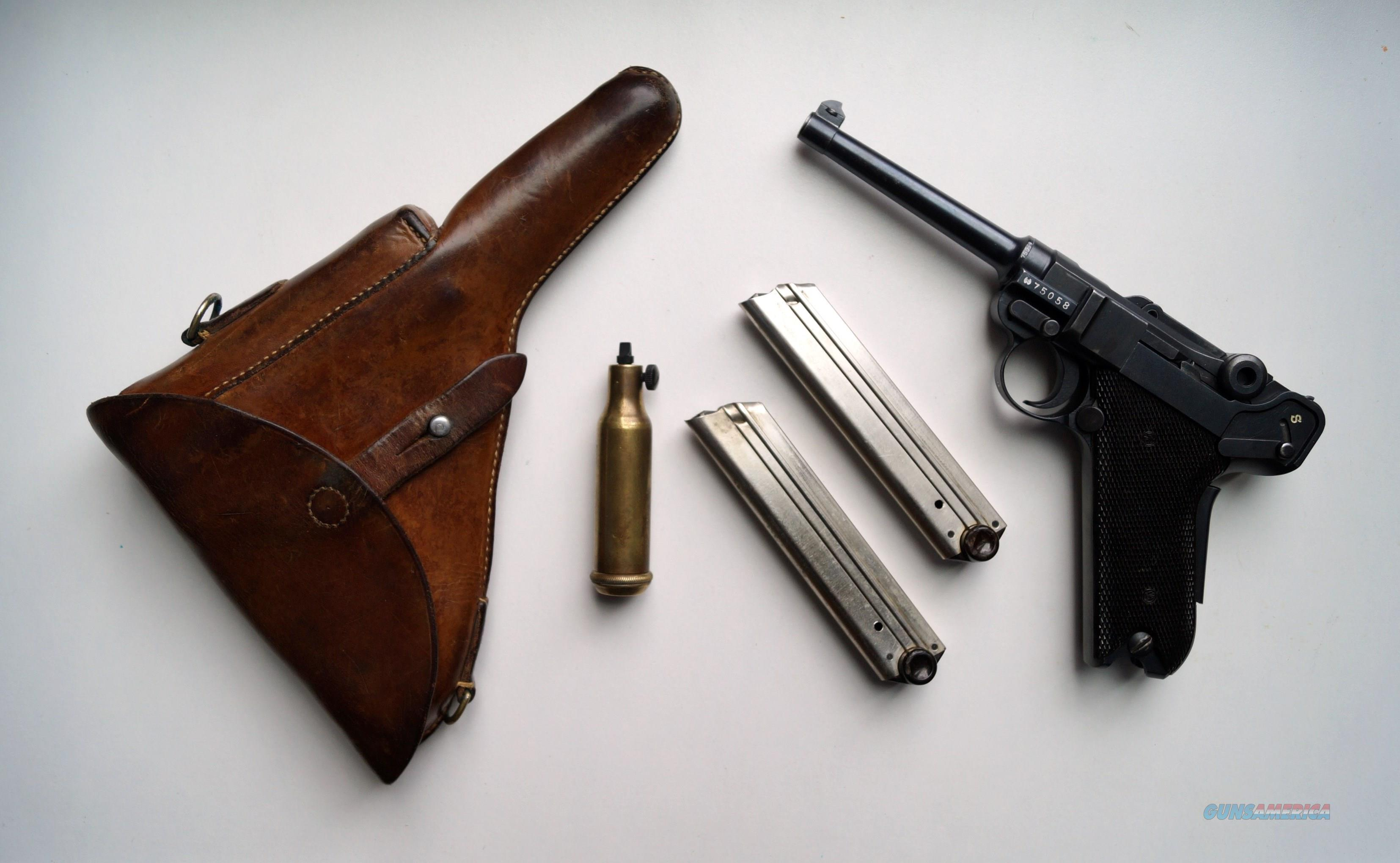 SWISS BERN 1929 RIG WITH ORIGINAL SWISS CLEANING KIT  Guns > Pistols > Luger Pistols