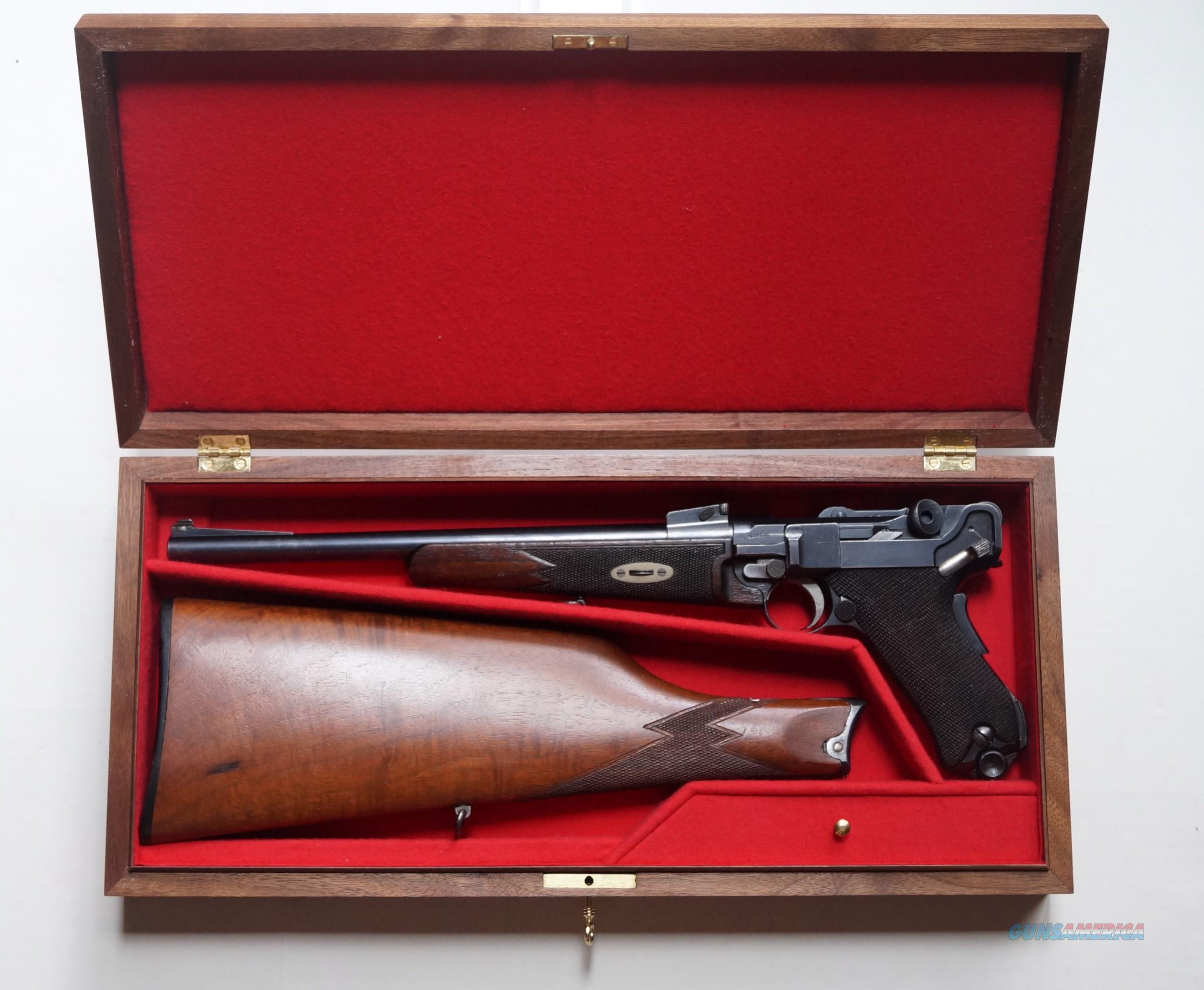 1902 DWM CARBINE W/ MATCHING # STOCK AND DISPLAY CASE  Guns > Pistols > Luger Pistols