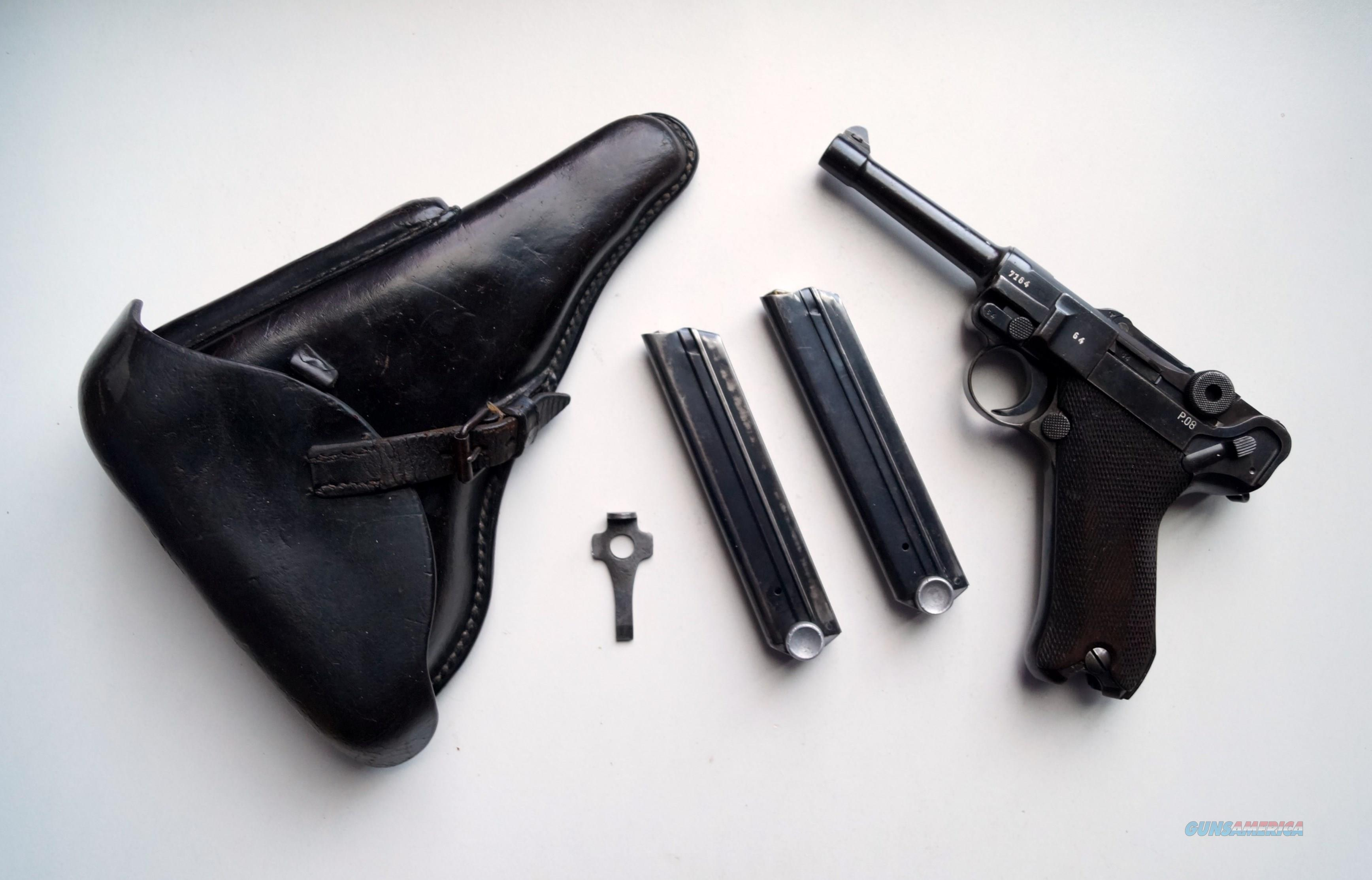 1941 CODE 42 NAZI GERMAN LUGER RIG, W/ 2 MATCHING # MAGAZINES  Guns > Pistols > Luger Pistols