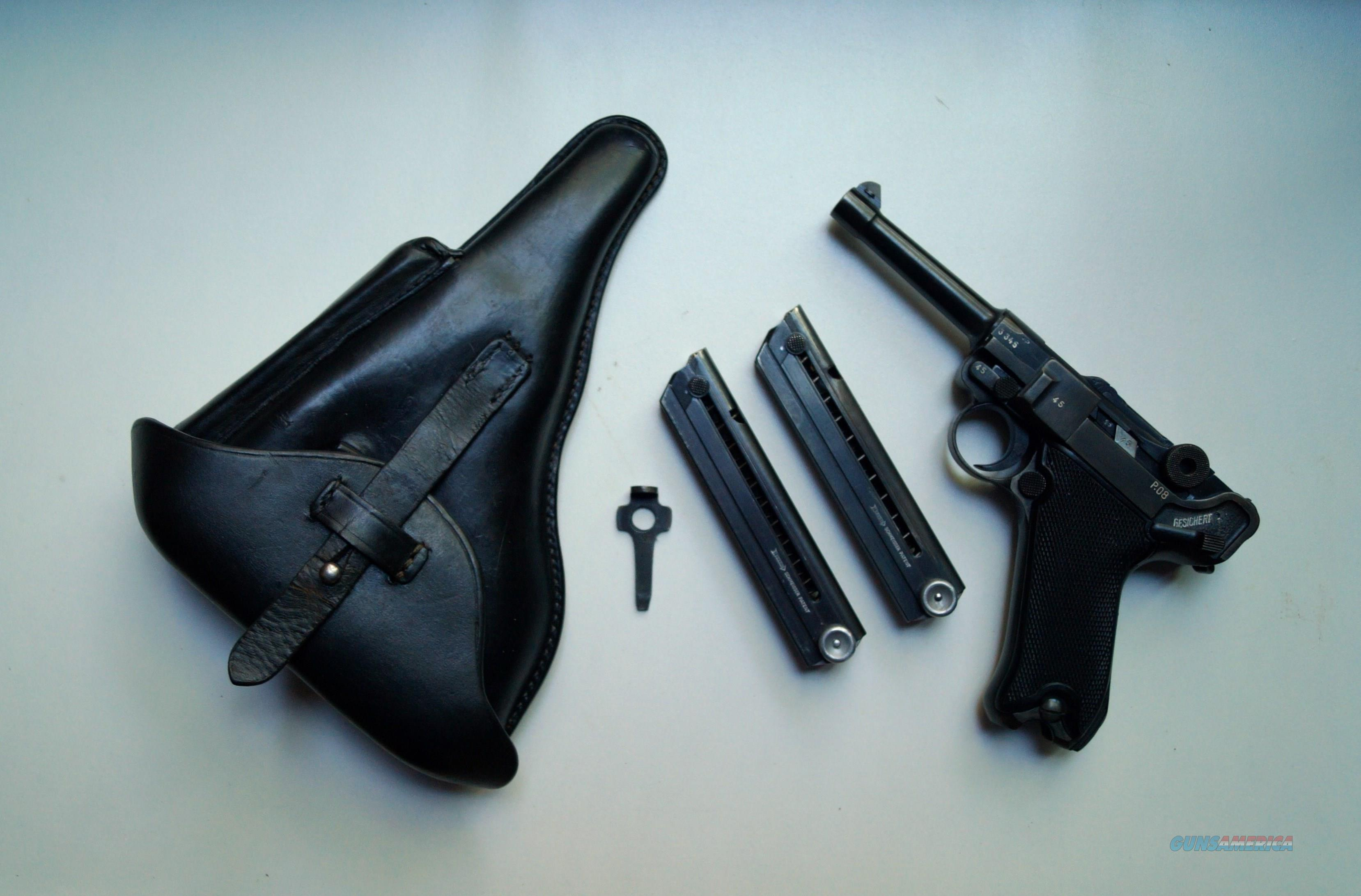 1942 MAUSER BANNER NAZI POLICE RIG  Guns > Pistols > Luger Pistols