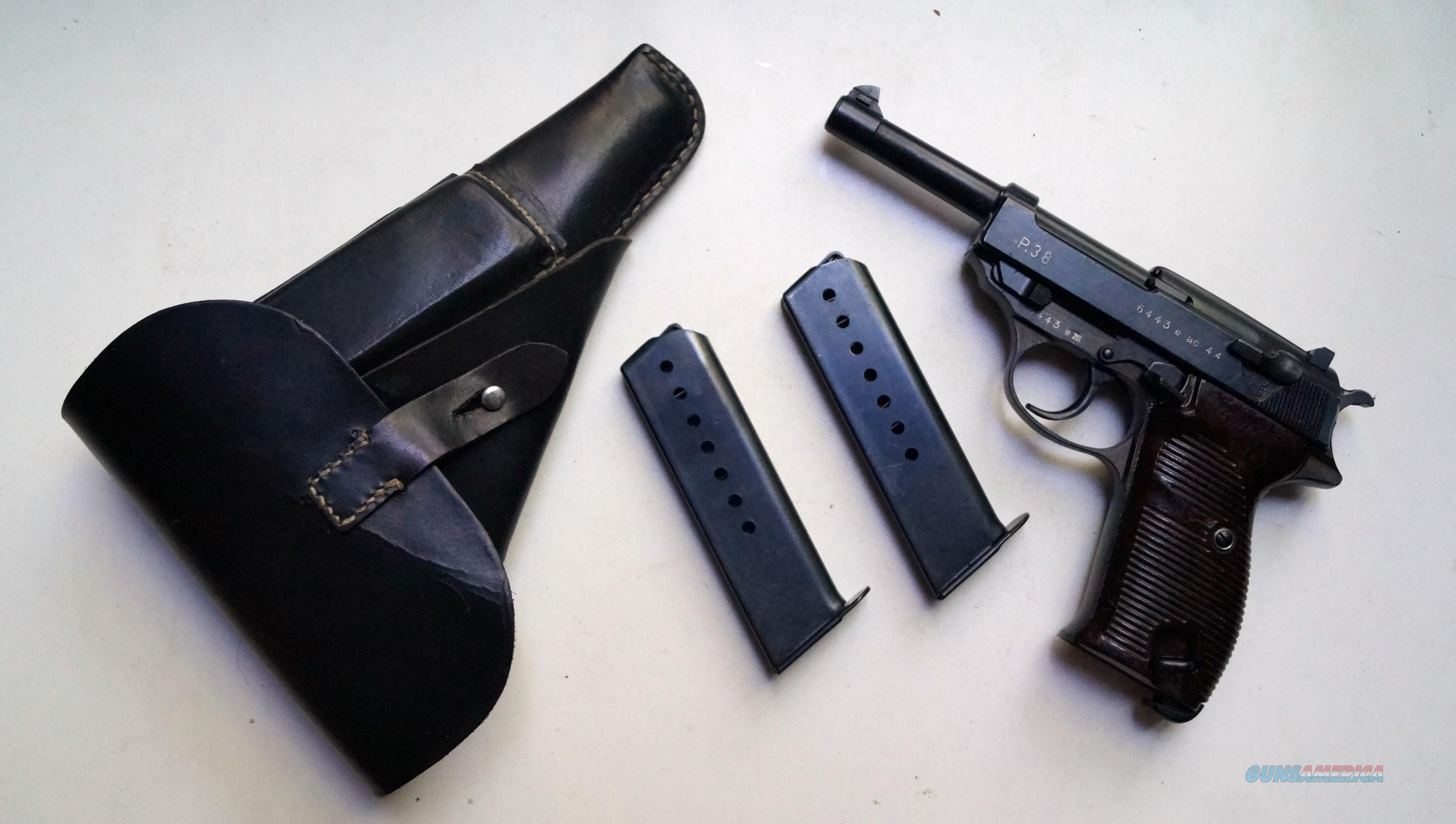 WALTHER P38 AC44 RIG  Guns > Pistols > Walther Pistols > Pre-1945 > P-38