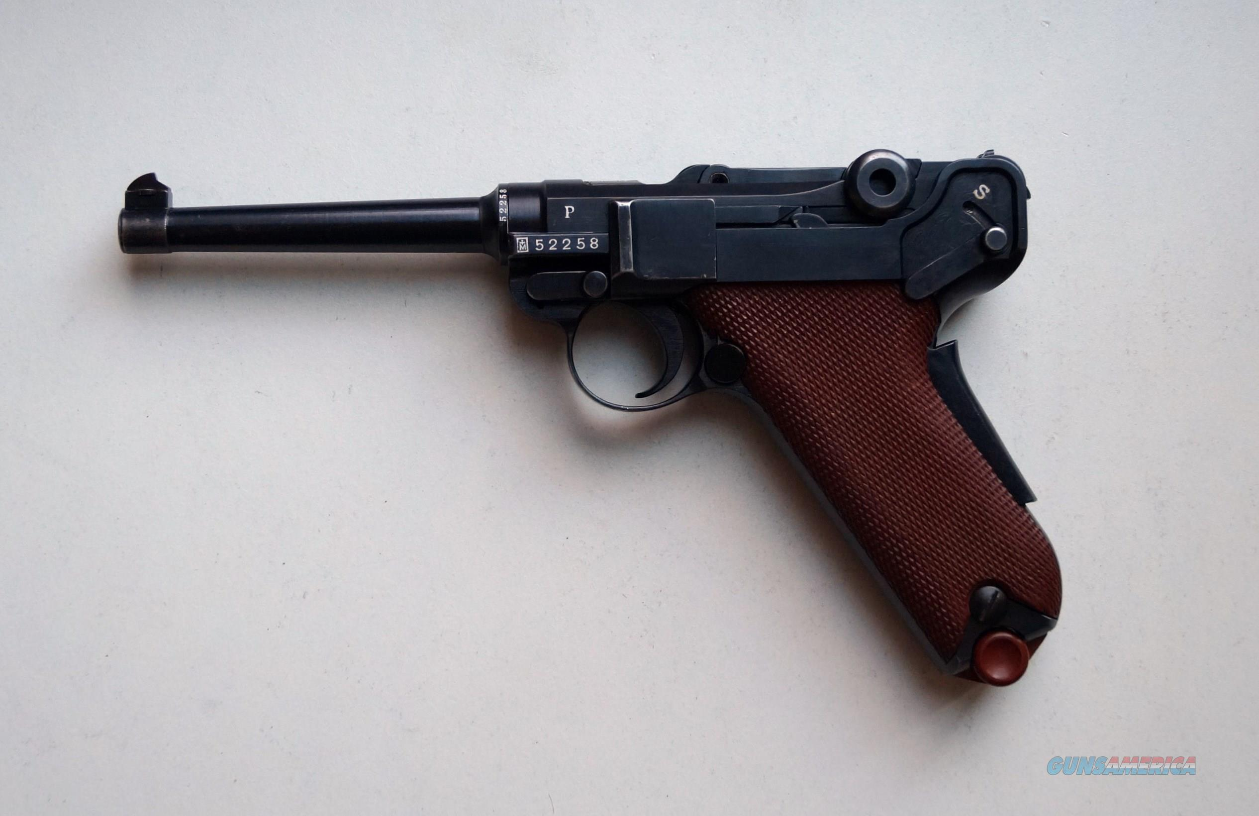 1929 SWISS BERN MILITARY LUGER WITH RED GRIPS  Guns > Pistols > Luger Pistols