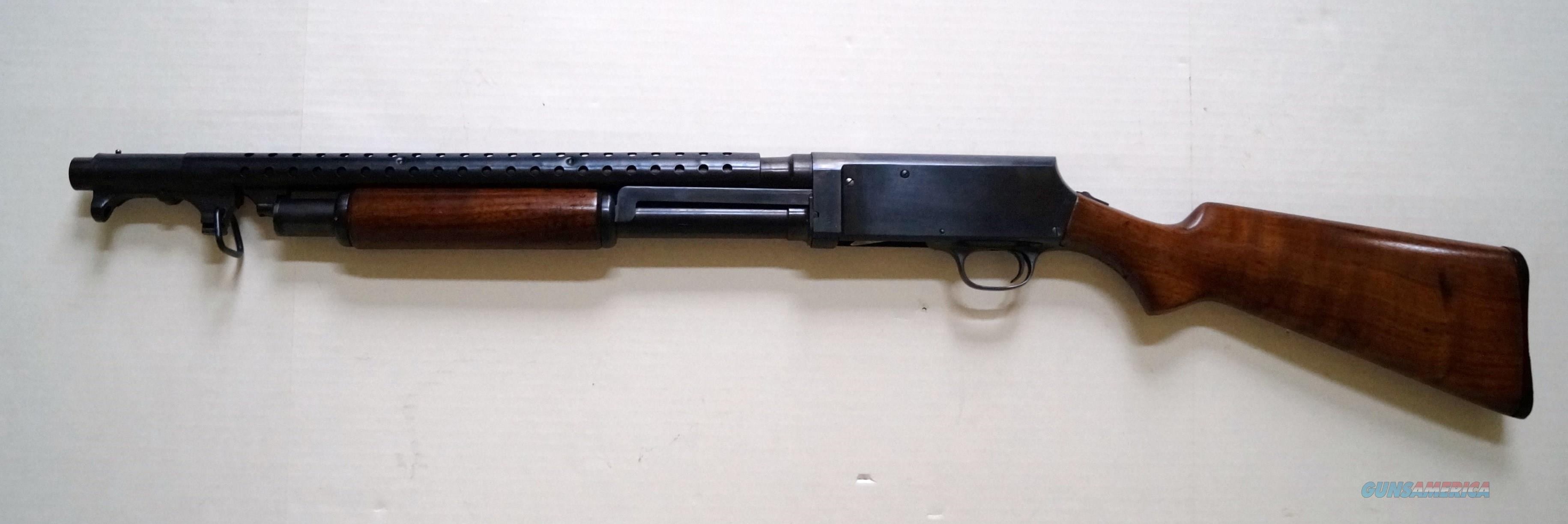 STEVENS MODEL 520-30 WWII MILITARY TRENCH GUN WITH BAYONET  Guns > Shotguns > Stevens Shotguns