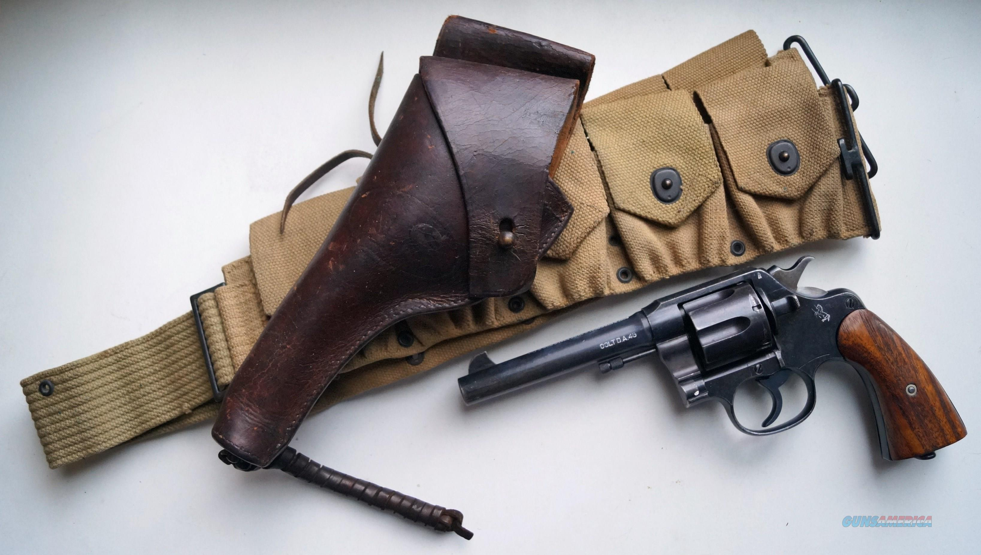 COLT WWI U.S. ARMY MODEL 1917 RIG  Guns > Pistols > Colt Double Action Revolvers- Pre-1945