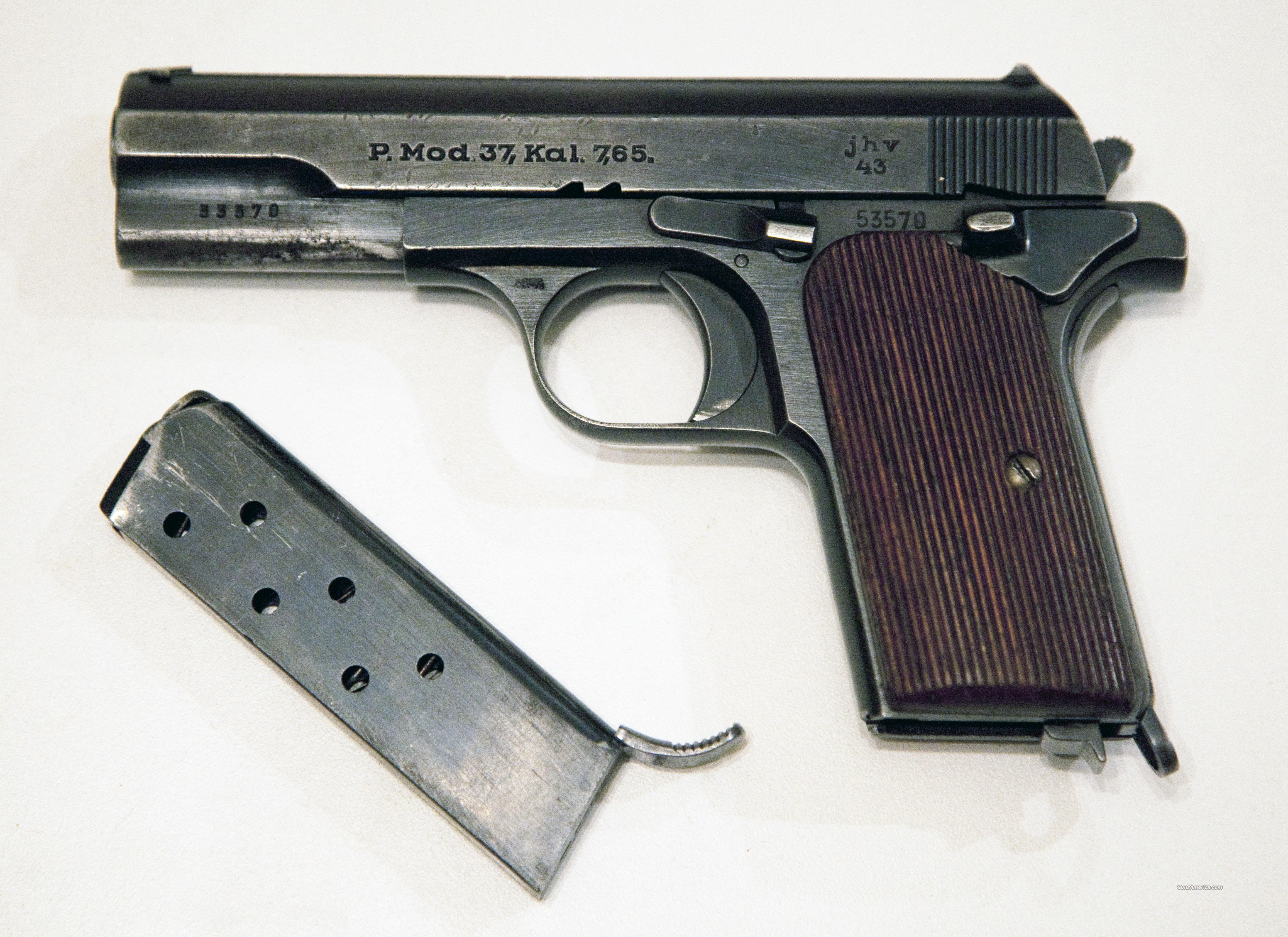 HUNGARIAN FEMARU MOD 37 / NAZI MARKED  Guns > Pistols > Military Misc. Pistols Non-US