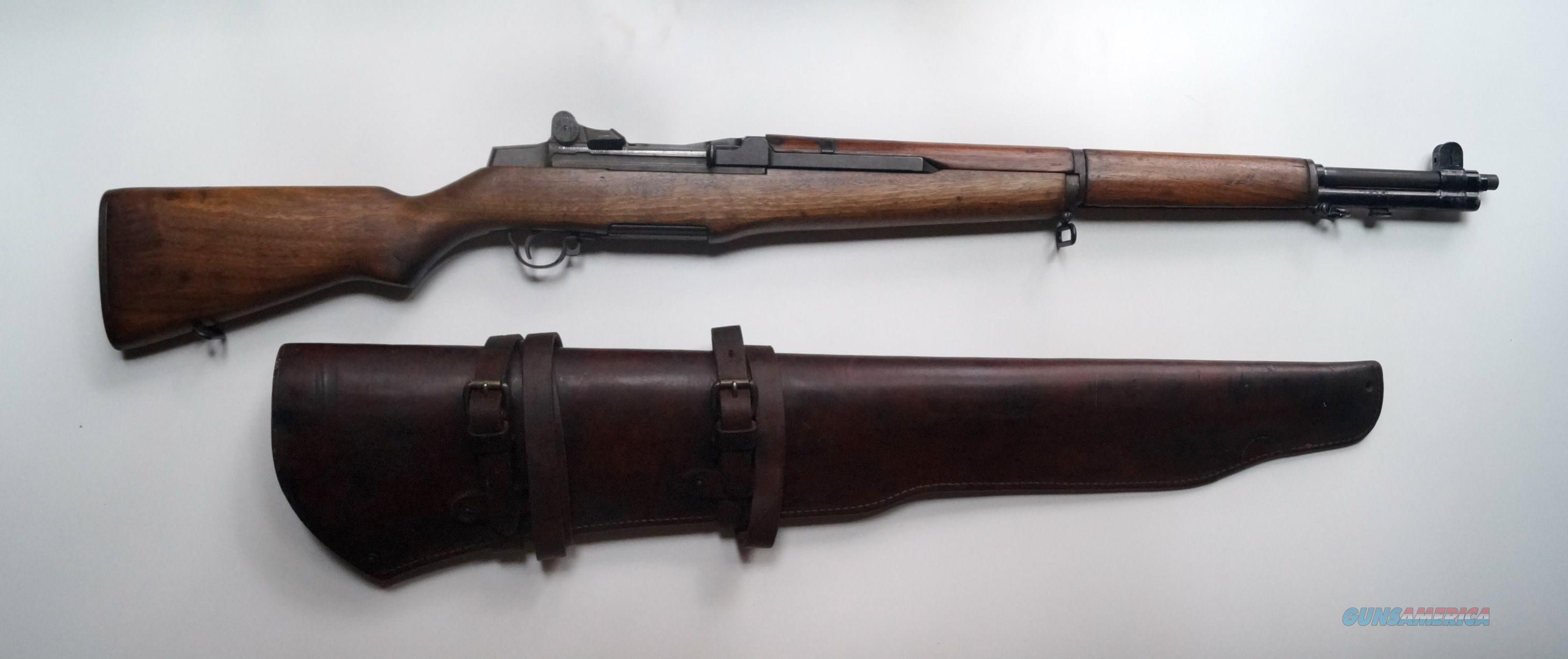 SPRINGFIELD ARMS WWII M1 GARAND RIFLE WITH ORIGINAL LEATHER CARRYING CASE  Guns > Rifles > Springfield Armory Rifles > M1 Garand