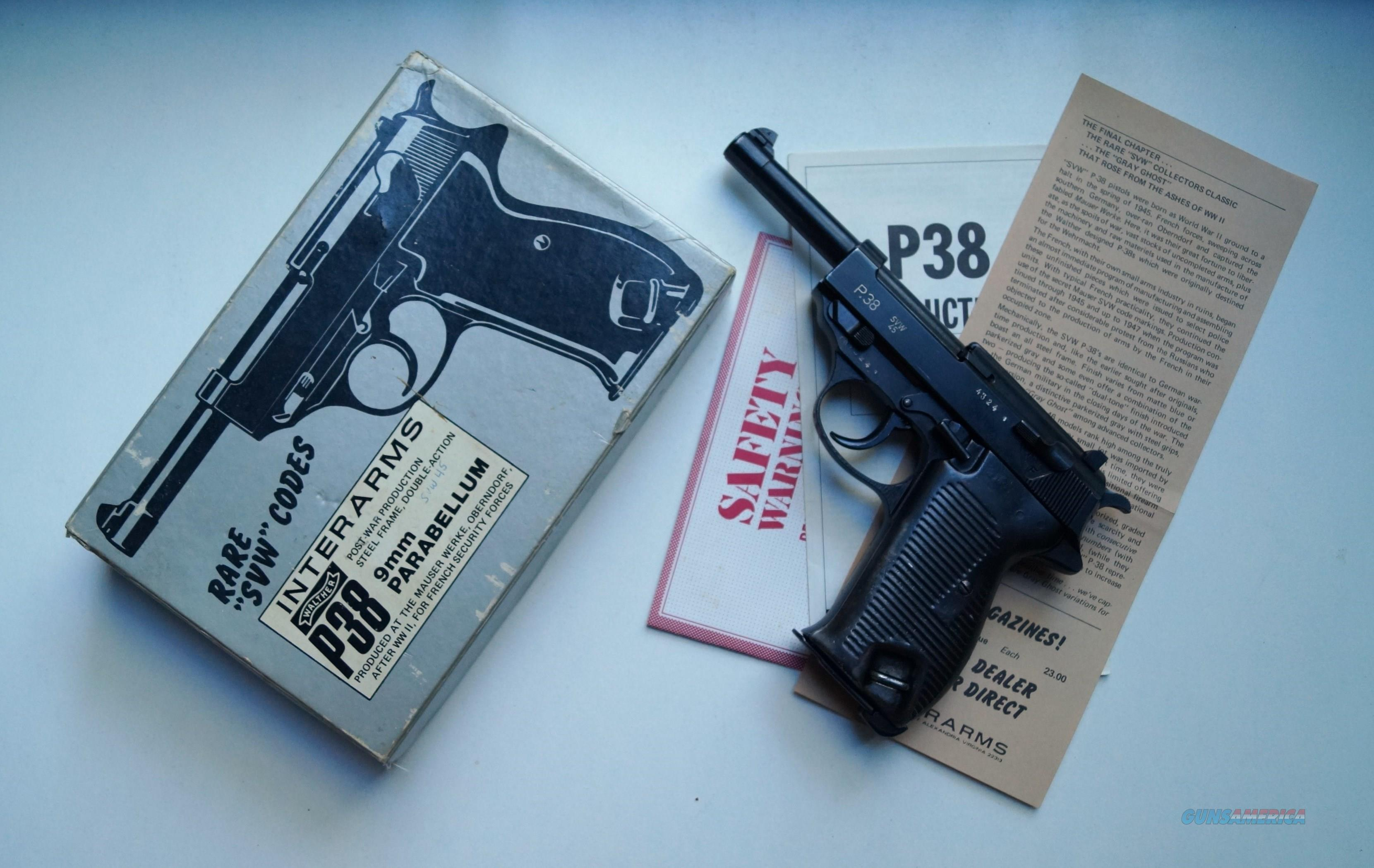 "P 38 MAUSER ""GREY GHOST"" SVW 45  Guns > Pistols > Military Misc. Pistols Non-US"