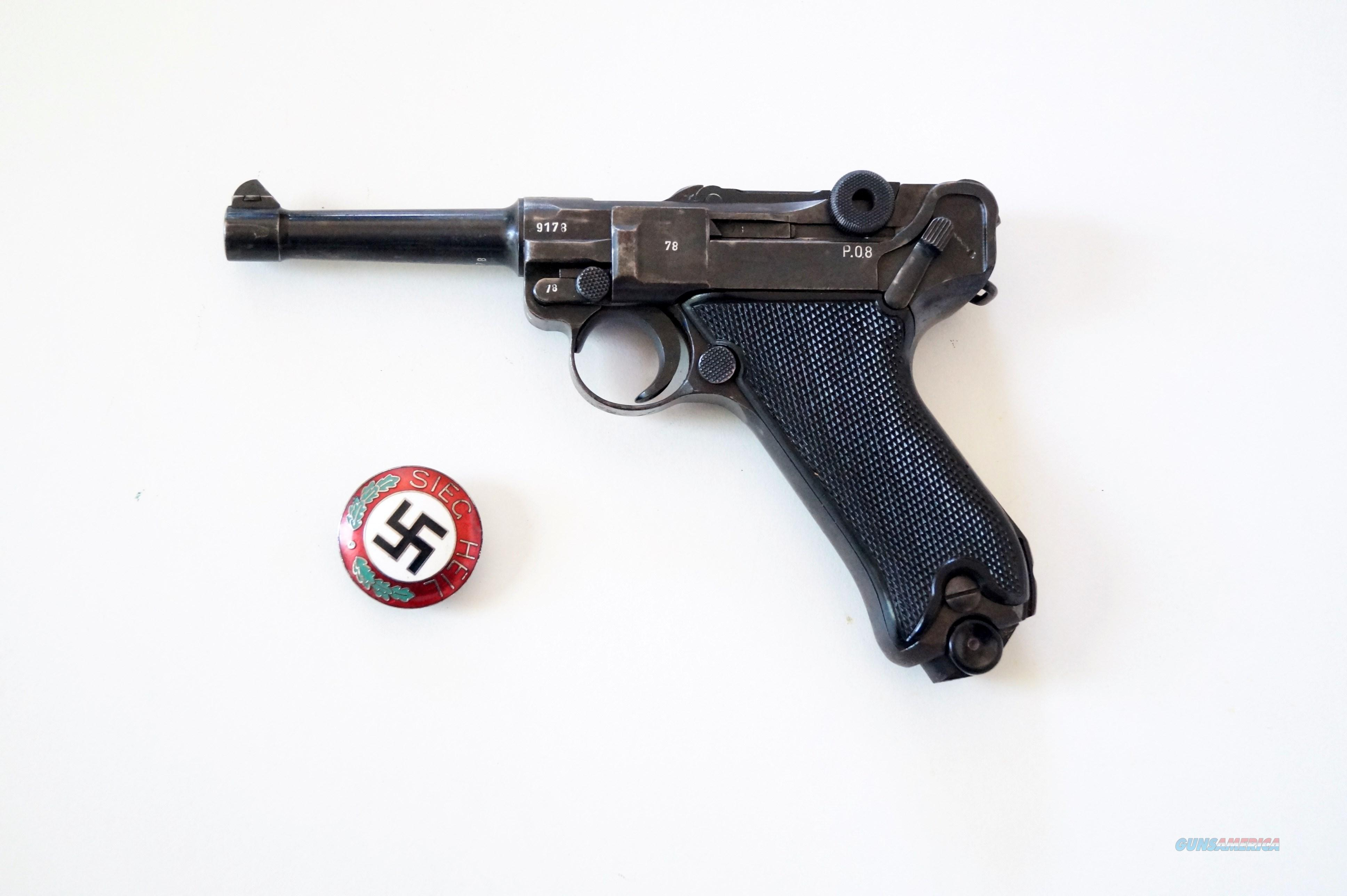 42 BYF NAZI BLACK WIDOW GERMAN LUGER   Guns > Pistols > Luger Pistols