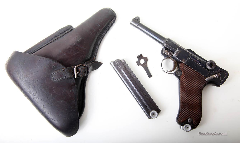German P08 Toggle Markings: 1914 DWM P-08 Unit Marked Luger