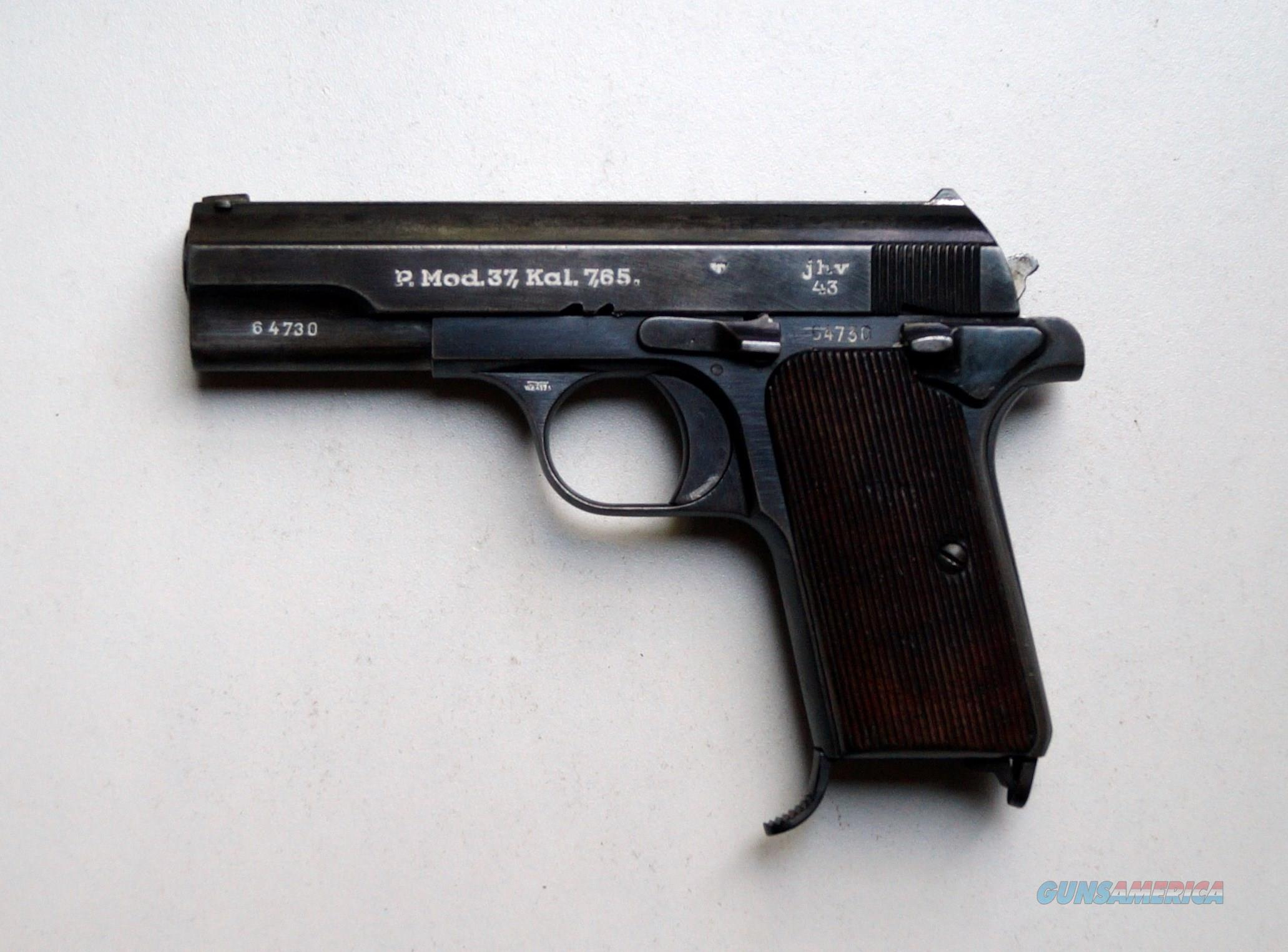 FEMARU NAZI MARKED MODEL 1937 (37M) WITH MATCHING NUMBERED MAGAZINE  Guns > Pistols > Military Misc. Pistols Non-US