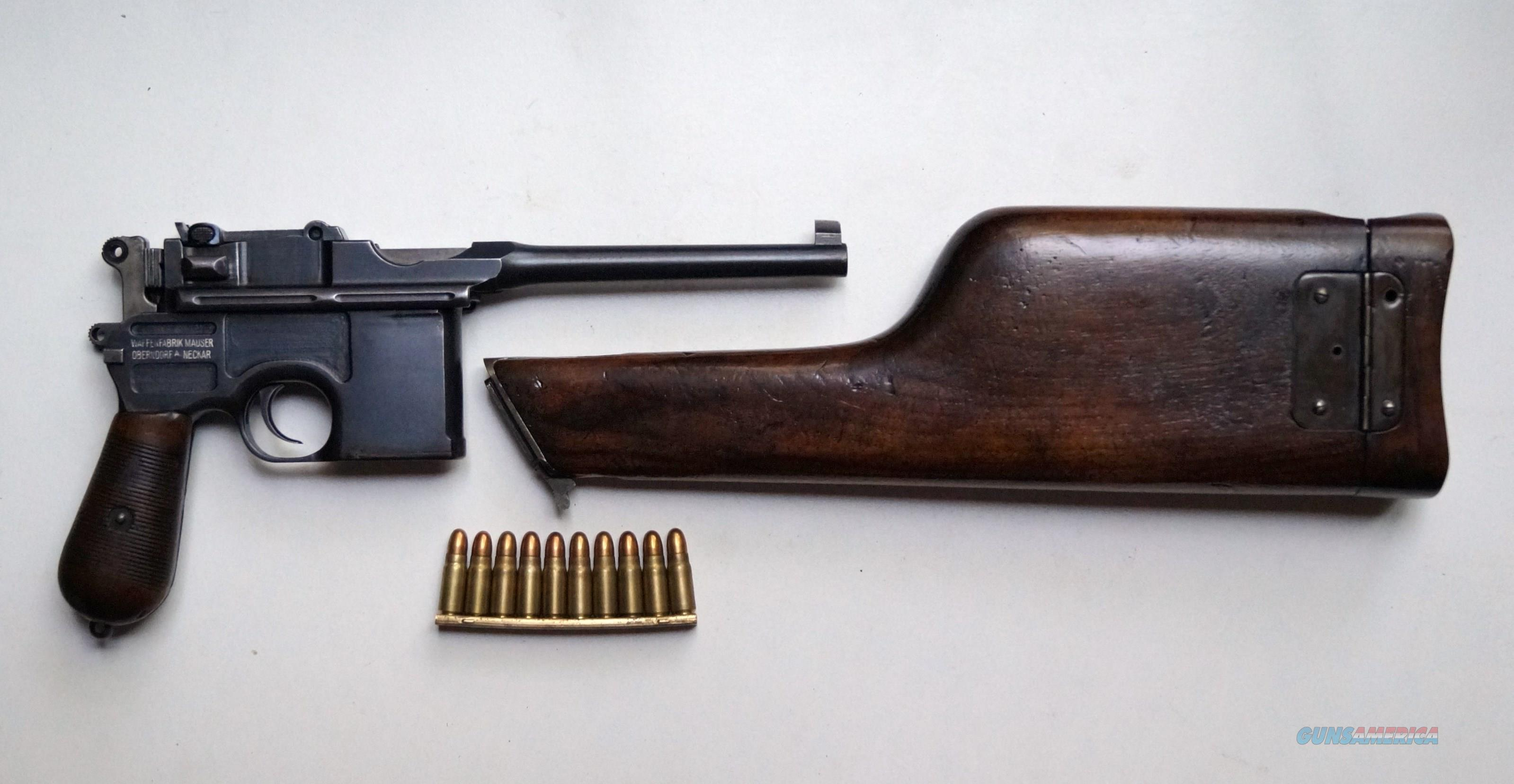 MAUSER BROOMHANDLE STANDARD PRE WAR COMMERCIAL WITH MATCHING STOCK  Guns > Pistols > Mauser Pistols