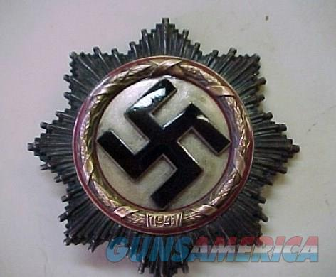 NAZI GERMAN CROSS IN GOLD / ORIGINAL  Non-Guns > Military Art > WW II
