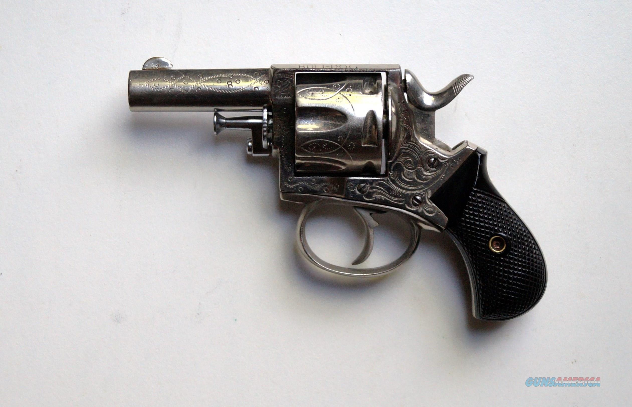 FOREHAND & WADSWORTH ENGRAVED ENGLISH BULLDOG  Guns > Pistols > Antique (Pre-1899) Pistols - Ctg. Misc.