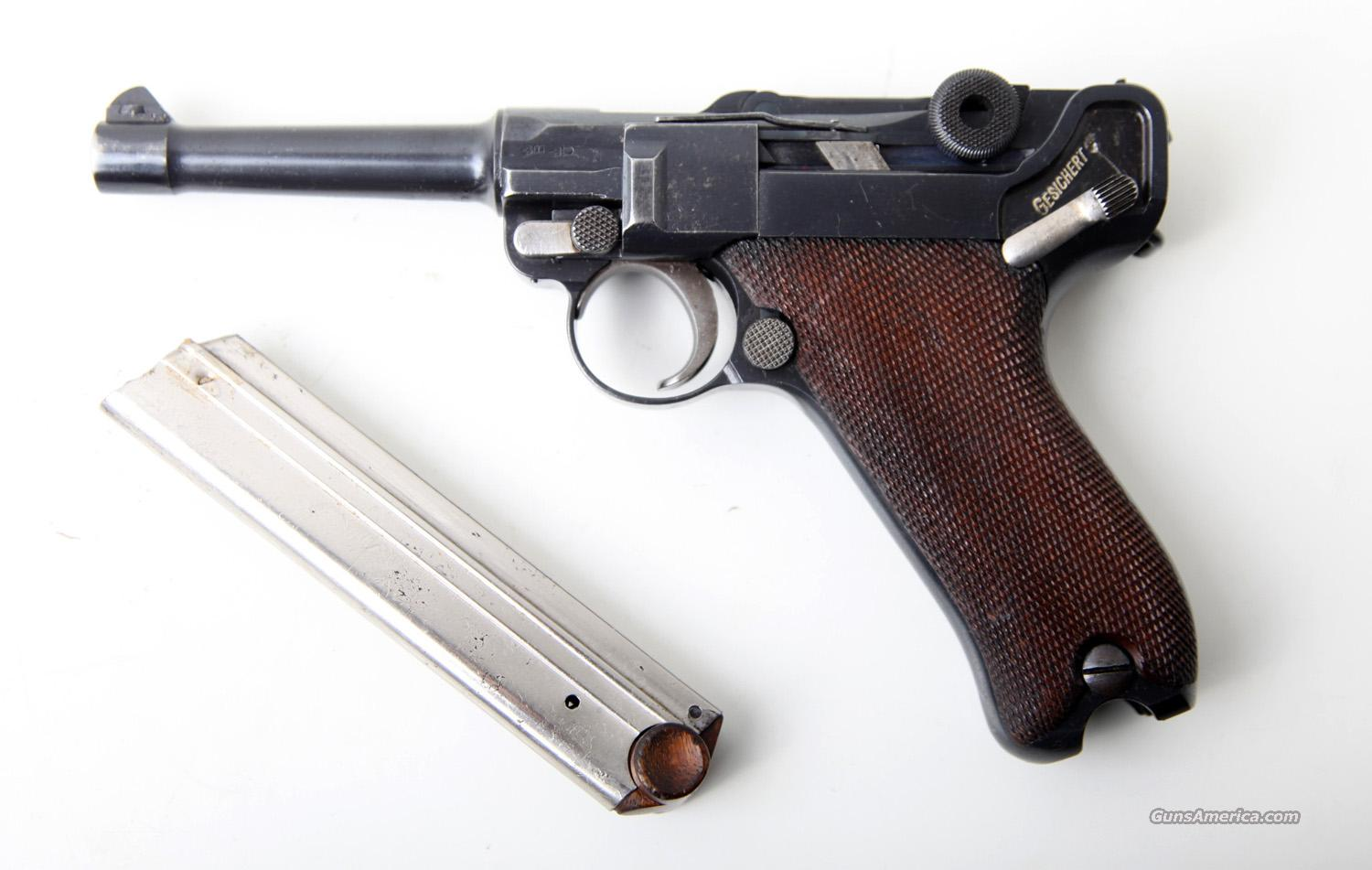 1908 DWM MILITARY/POLICE GERMAN LUGER W/MATCHING NUMBERED MAGAZINE  Guns > Pistols > Luger Pistols