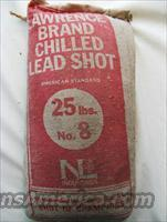 LAWRENCE BRAND #8 CHILLED LEAD SHOT - 25 LBS.  Non-Guns > Reloading > Components > Shotshell