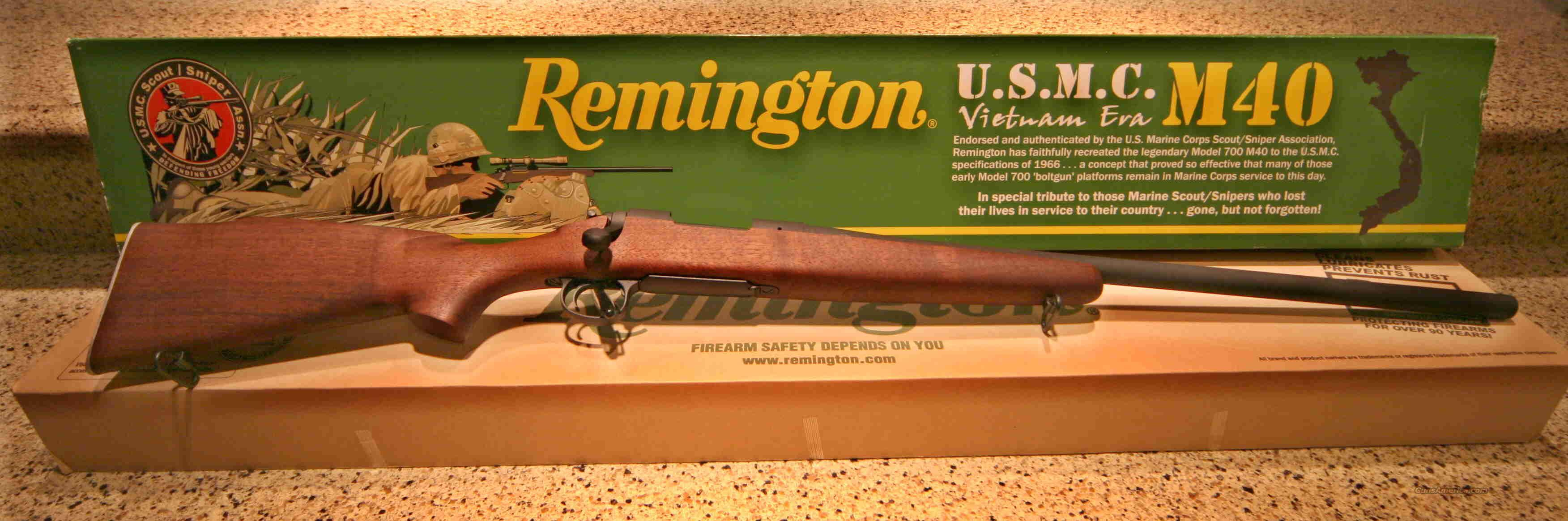 Remington 700 USMC M40 (New In Box Unfired)   Guns > Rifles > Remington Replica Rifles