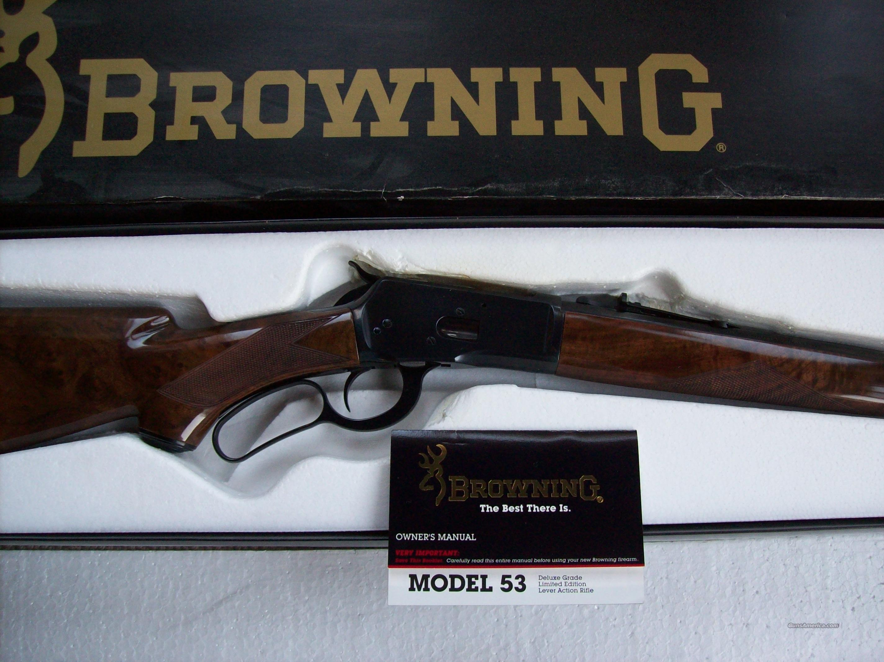 Browning Model 53  Deluxe Limited Ed.  Guns > Rifles > Browning Rifles > Lever Action