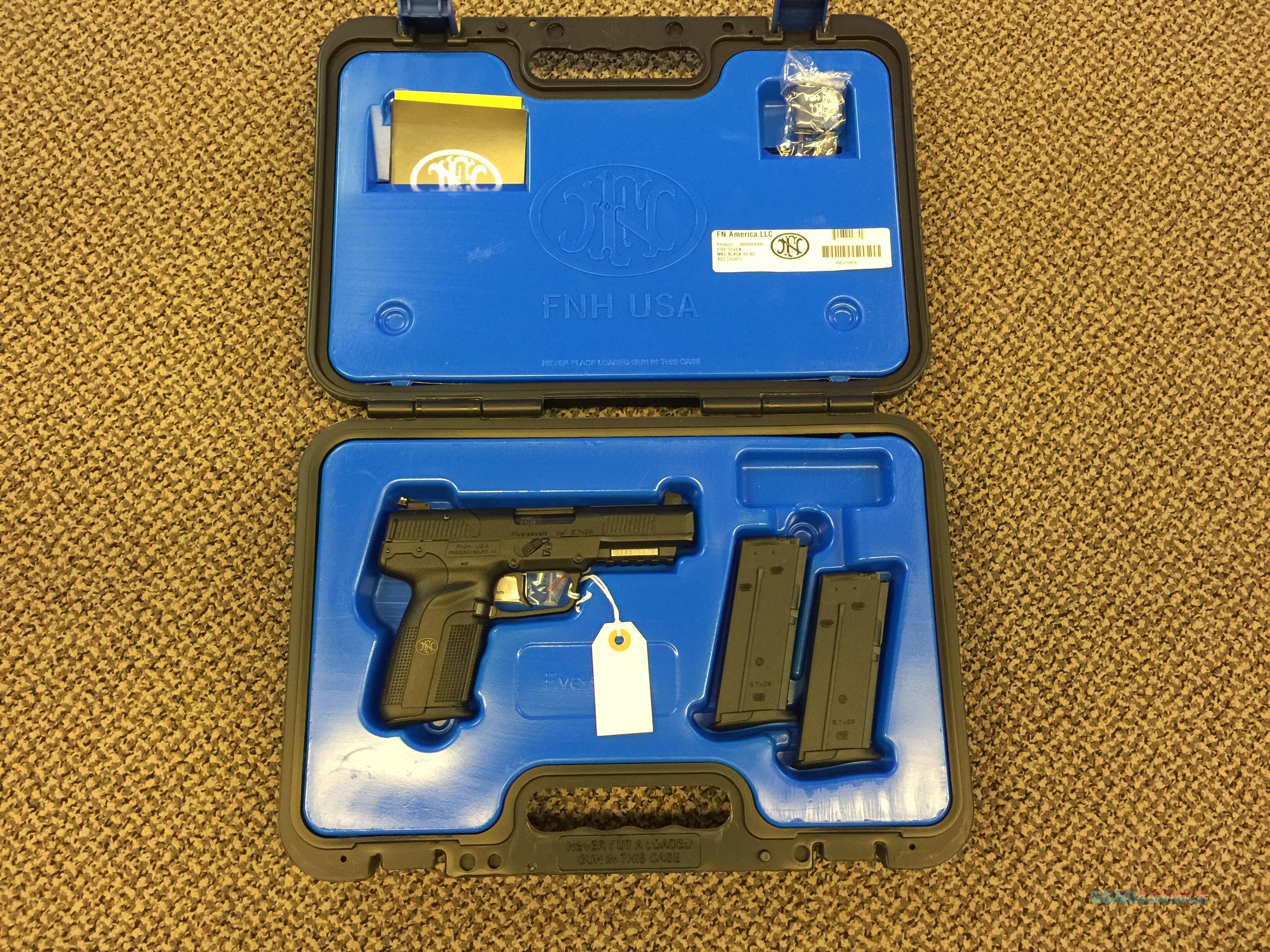 FN 5.7 PISTOL BLACK NEW IN BOX  Guns > Pistols > FNH - Fabrique Nationale (FN) Pistols > FiveSeven