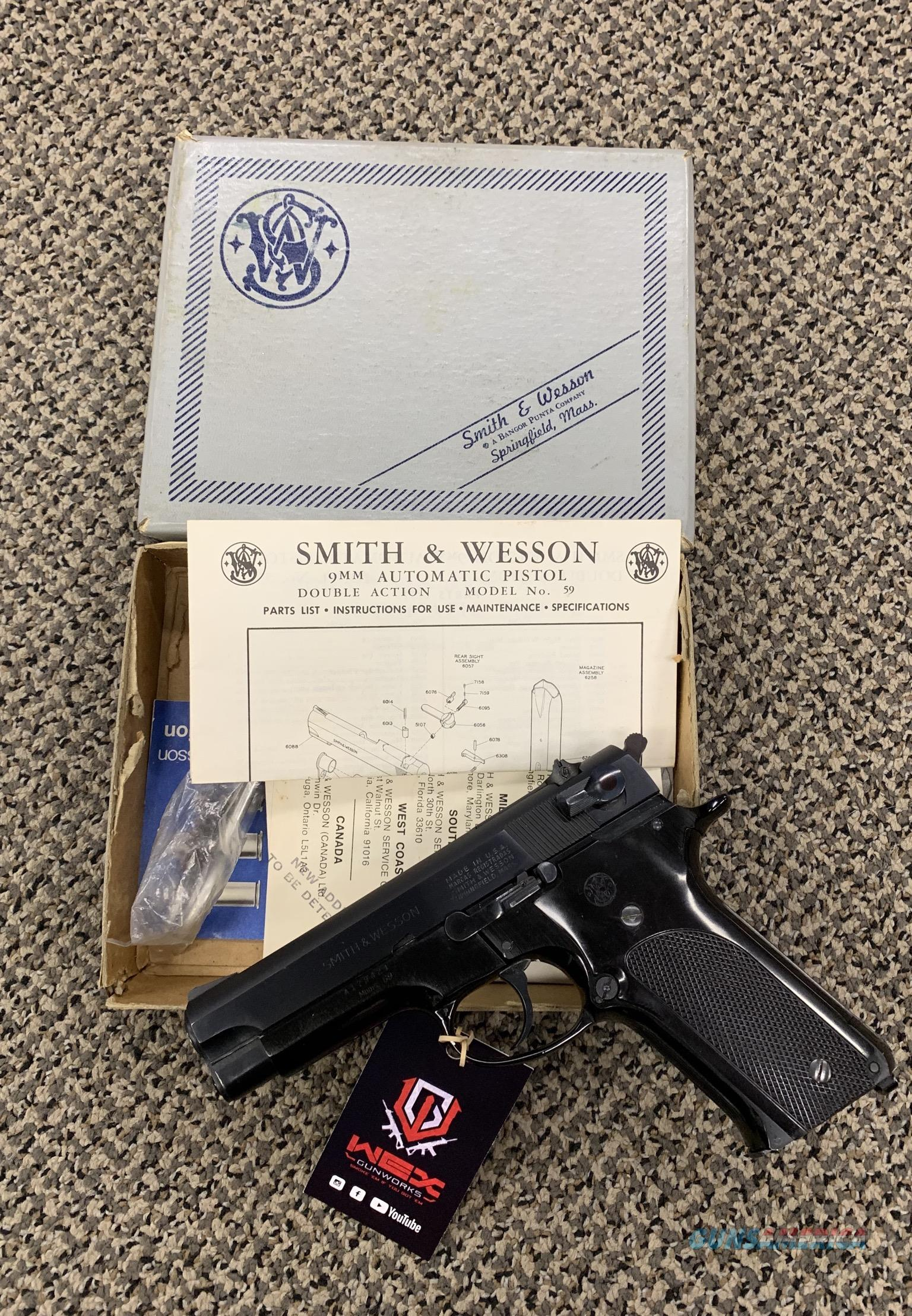 S&W MODEL 59 9MM 4 INCH BBL  Guns > Pistols > Smith & Wesson Pistols - Autos > Steel Frame