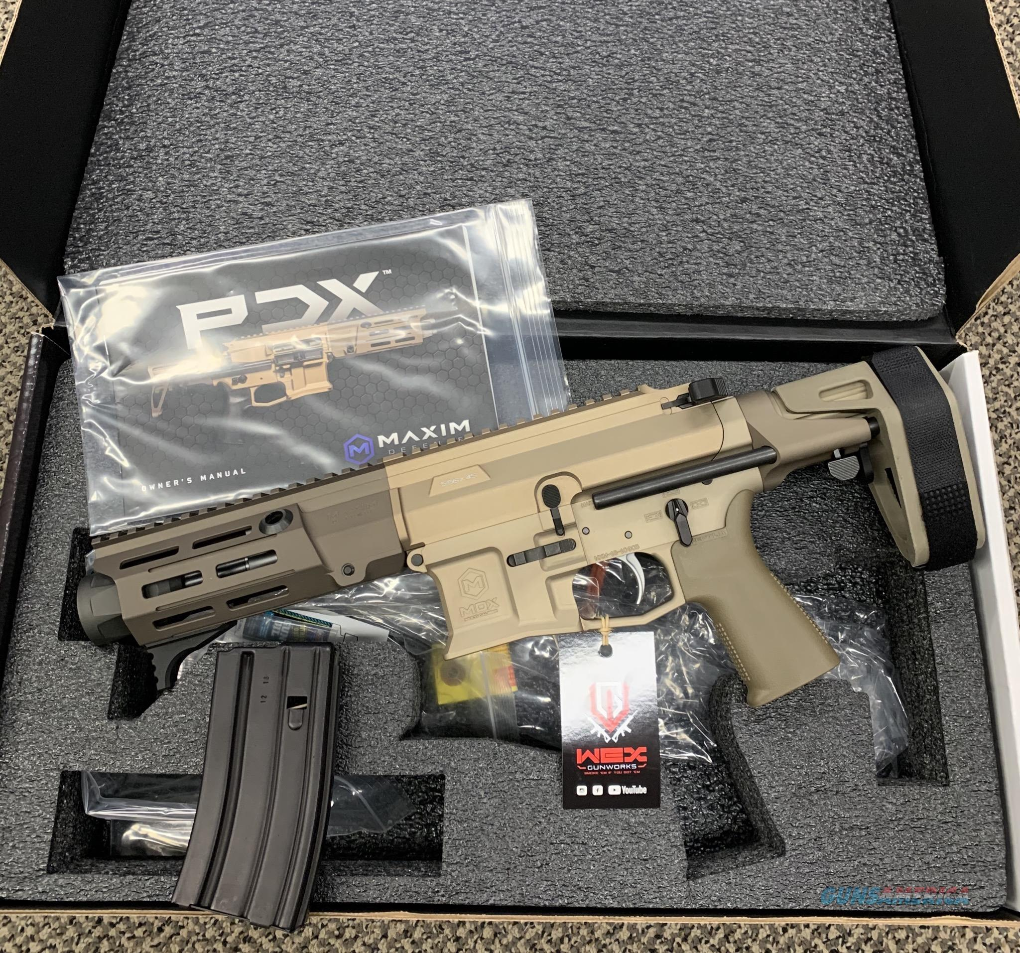 MAXIM DEFENSE PDX PISTOL .223/5.56 WITH PDW BRACE NOT CLASS 3  Guns > Pistols > MN Misc Pistols