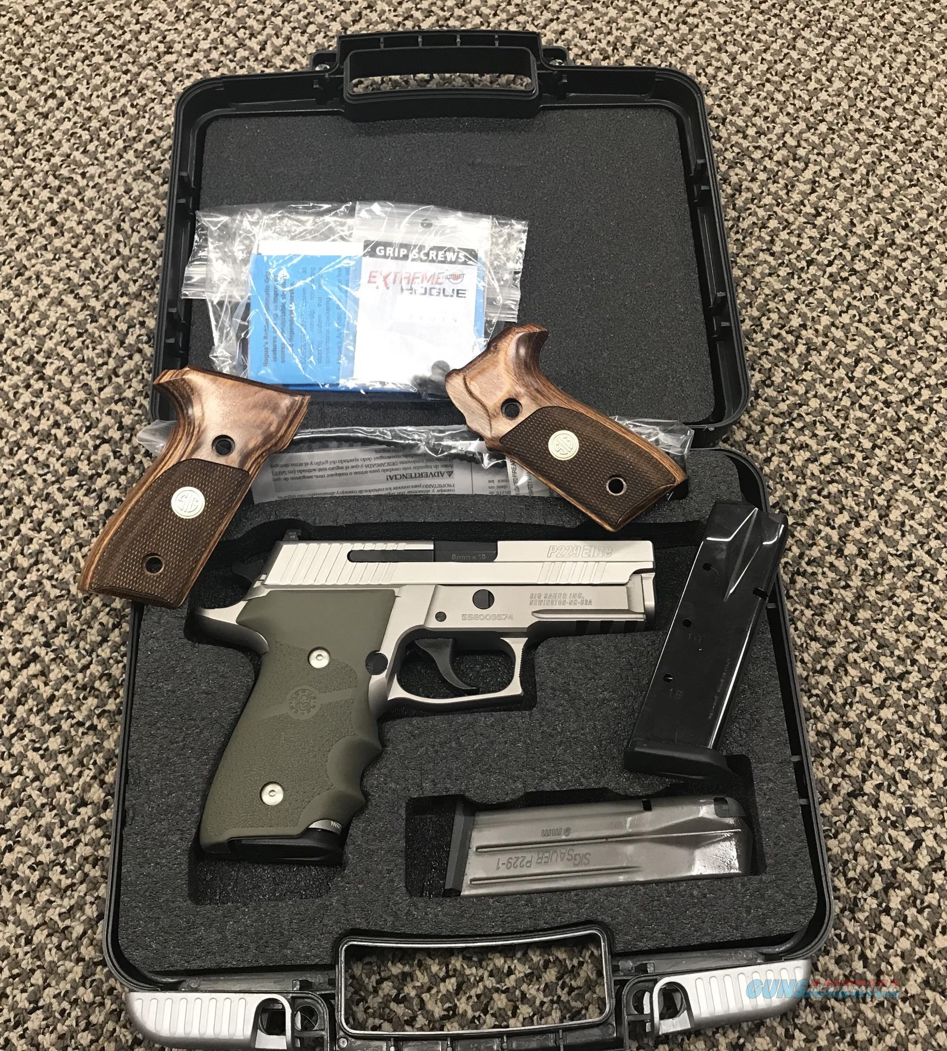 SIG SAUER P229 ELITE 9MM STAINLESS 3.9 INCH BBL  Guns > Pistols > Sig - Sauer/Sigarms Pistols > P229