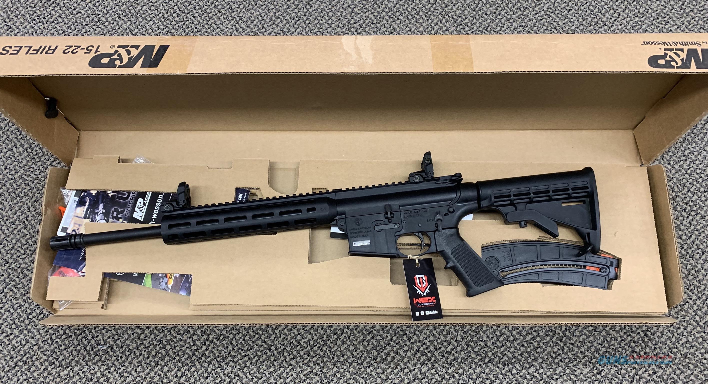 S&W M&P 15-22 .22LR RIFLE MLOK THREADED BBL NEW IN BOX  Guns > Rifles > Smith & Wesson Rifles > M&P
