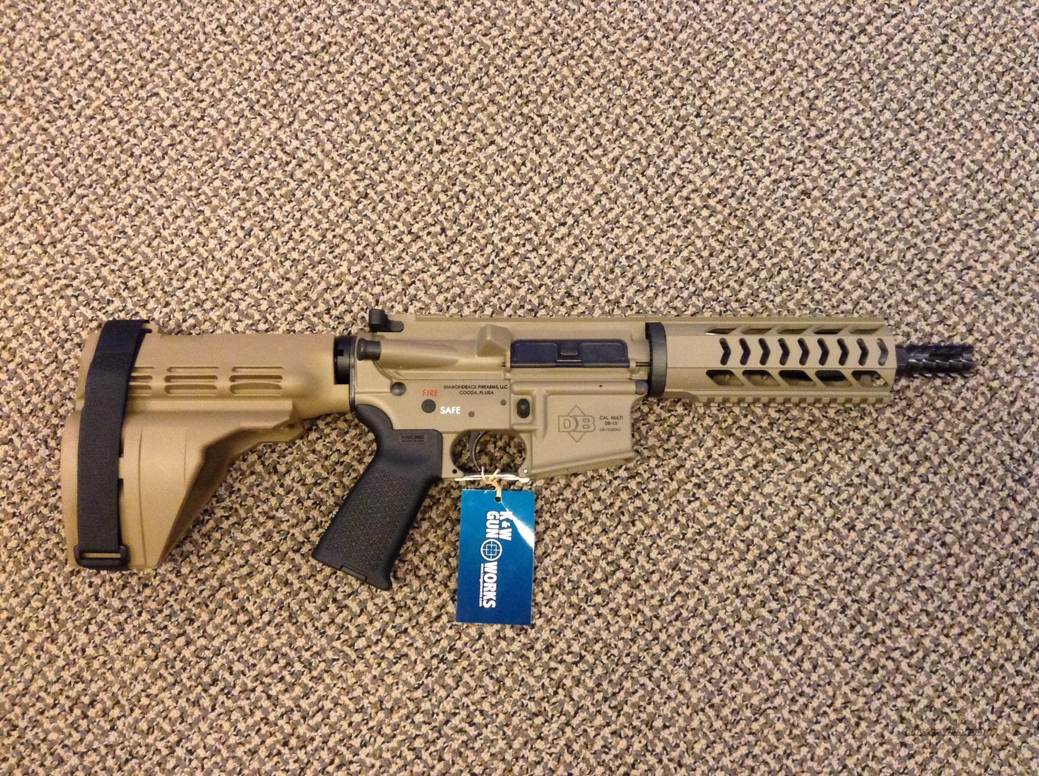DIAMONDBACK DB-15 PISTOL FDE WITH SIGTAC STABILIZING BRACE NEW IN BOX   Guns > Pistols > Diamondback Pistols